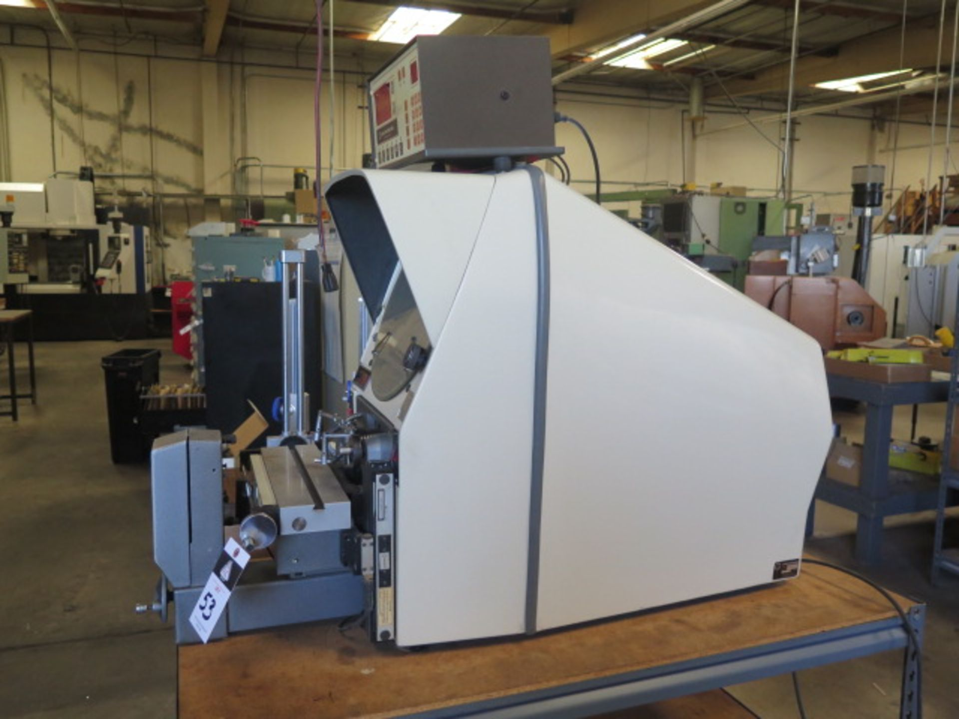 """Gage Master Series 20 13"""" Optical Comparator w/ Gage Master GM4 DRO, Dig Angular Readout, SOLD AS IS - Image 3 of 10"""