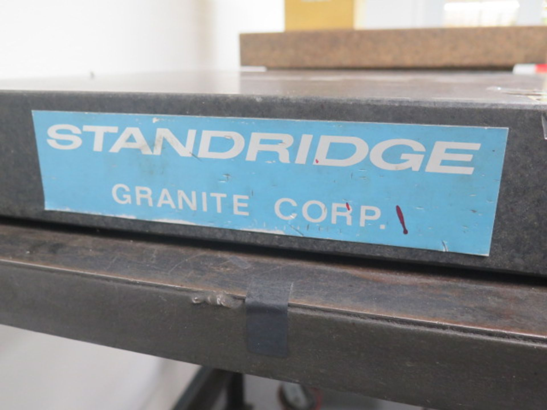 "Standridge 24"" x 24"" x 3"" Granite Surface Plate w/ Roll Stand (SOLD AS-IS - NO WARRANTY) - Image 3 of 4"