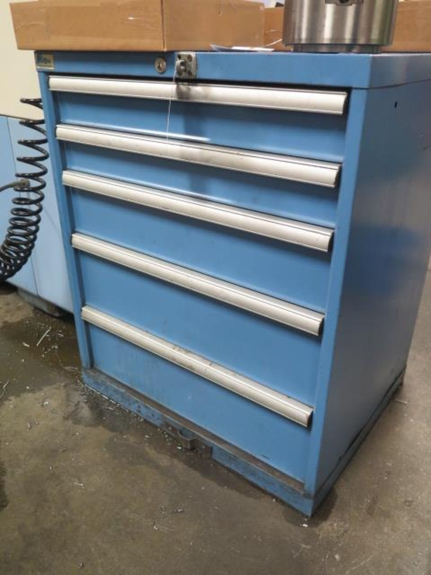 Lista 5-Drawer Tooling Cabinet w/ Chuck Jaws (SOLD AS-IS - NO WARRANTY)