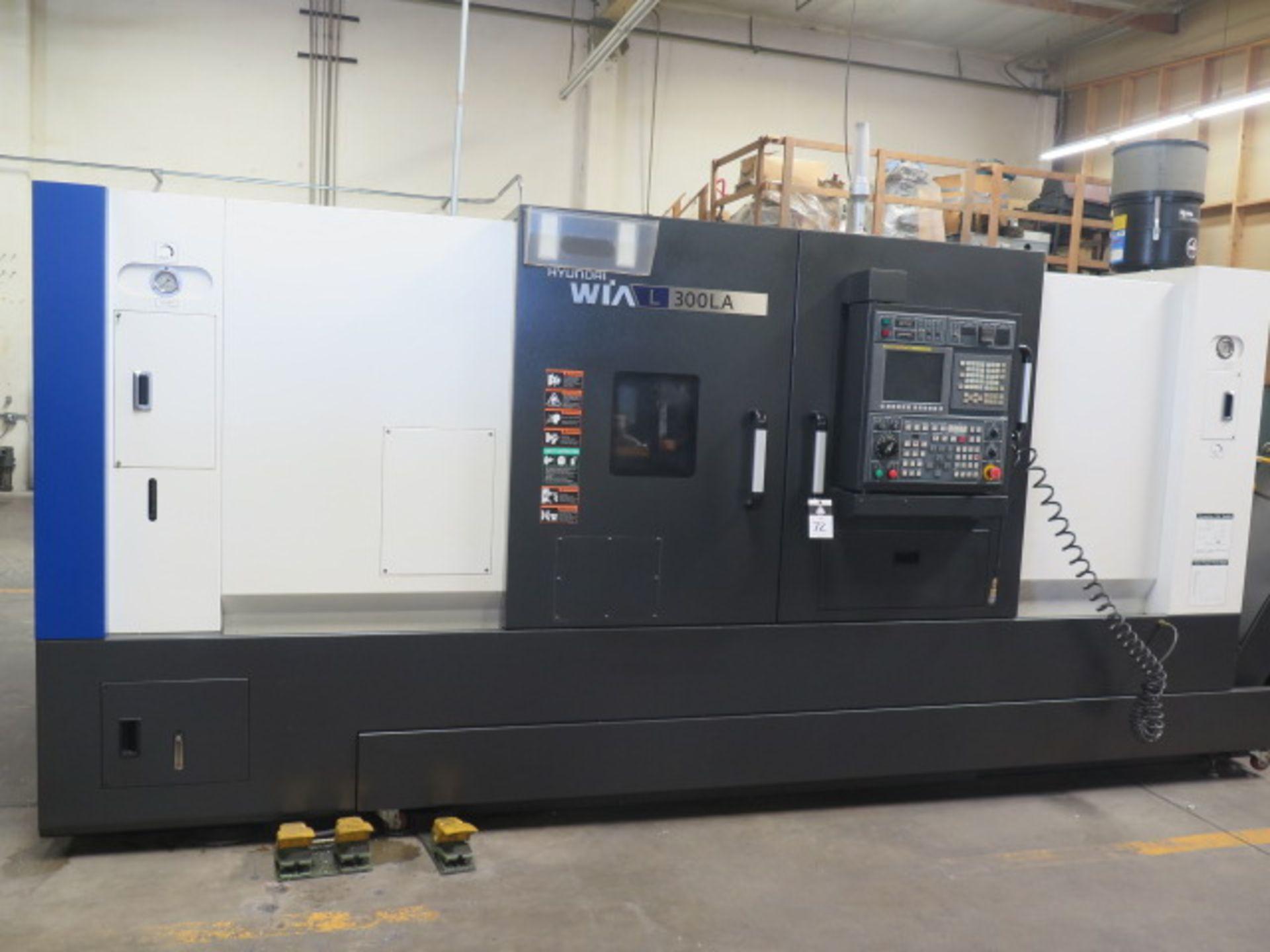 2016 Hyundai WIA L300LA CNC Turning Center s/n G3726-0083 w/ Fanuc i-Series Controls, SOLD AS IS