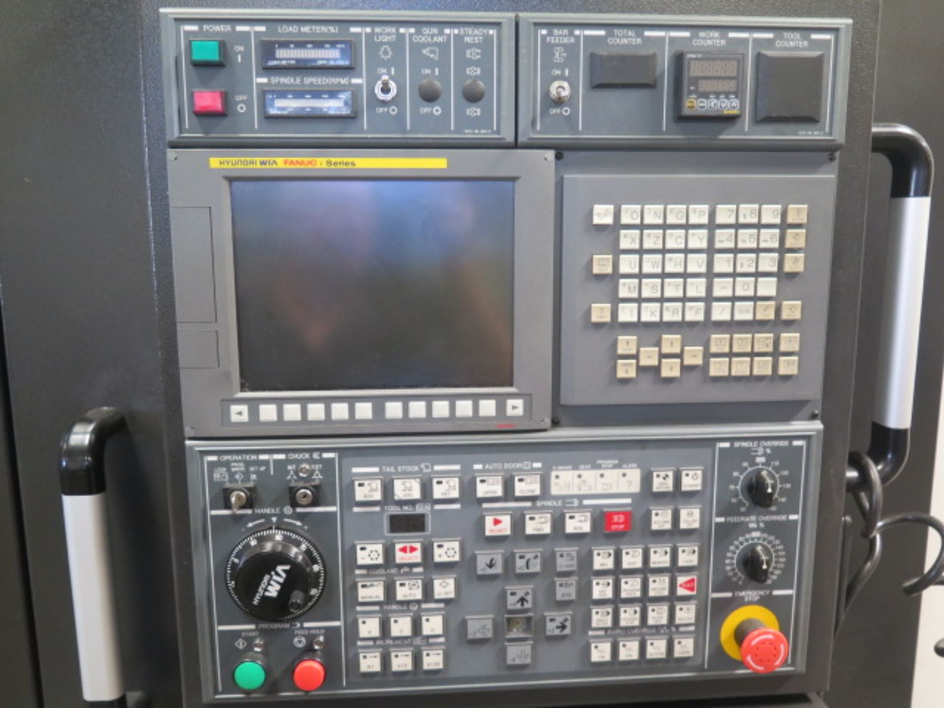 2016 Hyundai WIA L300LA CNC Turning Center s/n G3726-0083 w/ Fanuc i-Series Controls, SOLD AS IS - Image 5 of 20