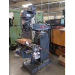 """Lagun FT-1 Vertical Mill w/ Mitutoyo DRO, 55-2940 RPM, 8-Speeds, Power Feed, 9"""" x 42"""" Table (SOLD"""