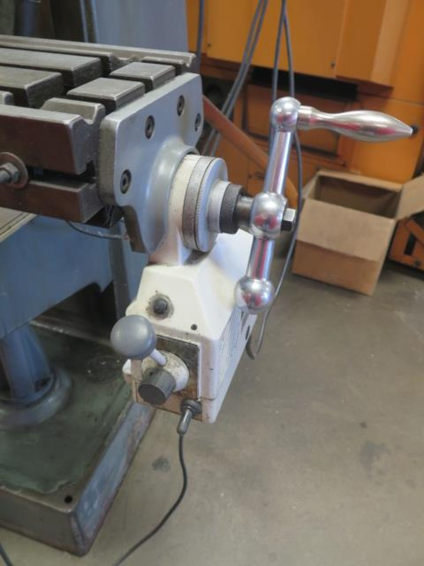 """Lagun FT-1 Vertical Mill w/ Mitutoyo DRO, 55-2940 RPM, 8-Speeds, Power Feed, 9"""" x 42"""" Table (SOLD - Image 11 of 14"""