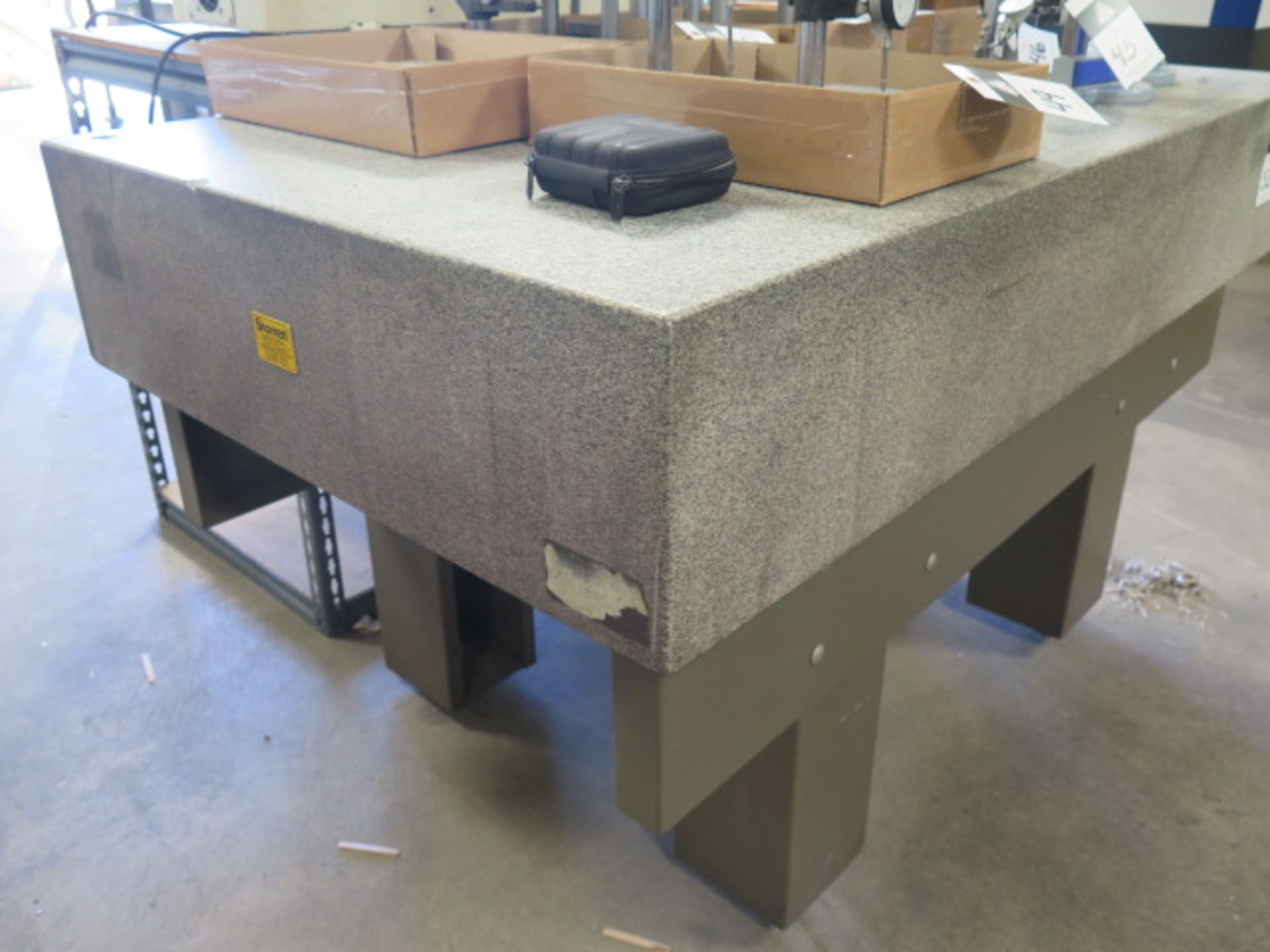 """36"""" x 60"""" x 10"""" Granite Surface Plate w/ Stand (SOLD AS-IS - NO WARRANTY) - Image 3 of 5"""