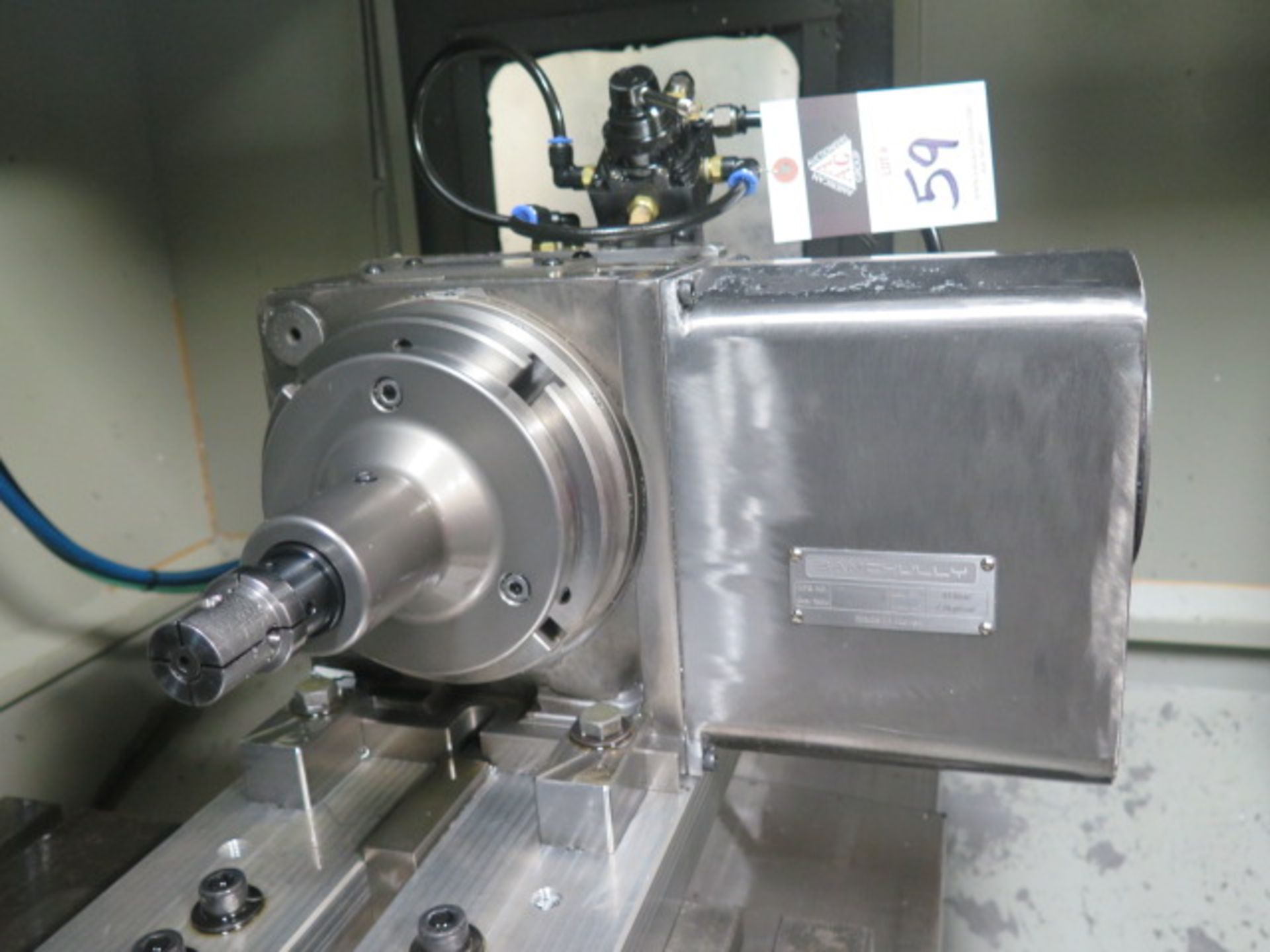 """Samchully 4th Axis 7"""" Rotary Head w/ 5C Pneumatic Collet Closer (SOLD AS-IS - NO WARRANTY) - Image 2 of 8"""