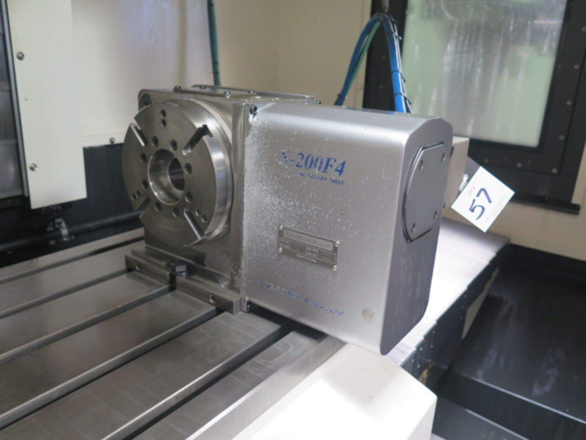 "Samchully mdl. S-200F4 4th Axis 8"" Rotary Head (SOLD AS-IS - NO WARRANTY)"
