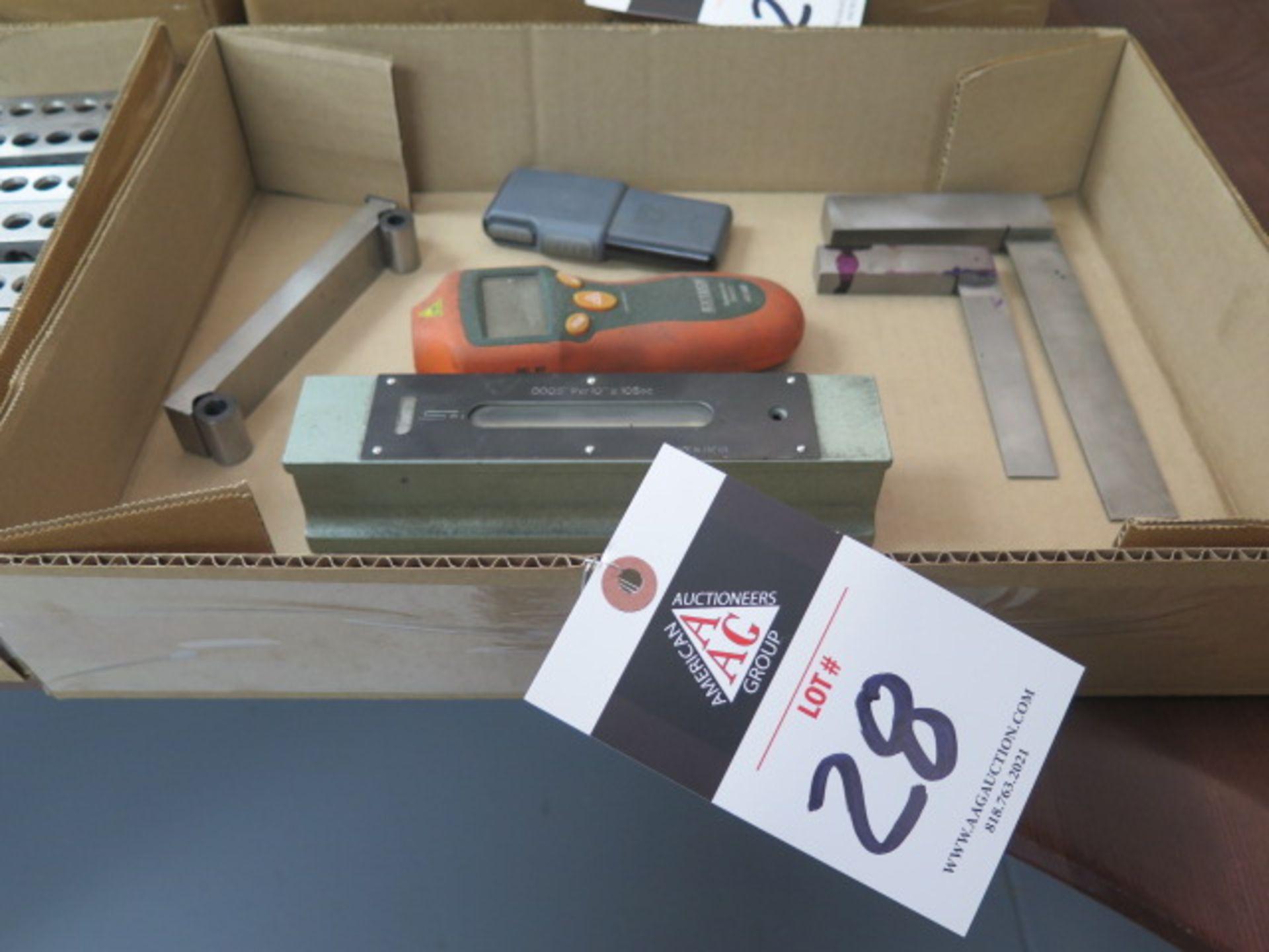"""SPI 8"""" Master Level, Sine Bar, Squaresand Extech Digital Tachometer (SOLD AS-IS - NO WARRANTY)"""