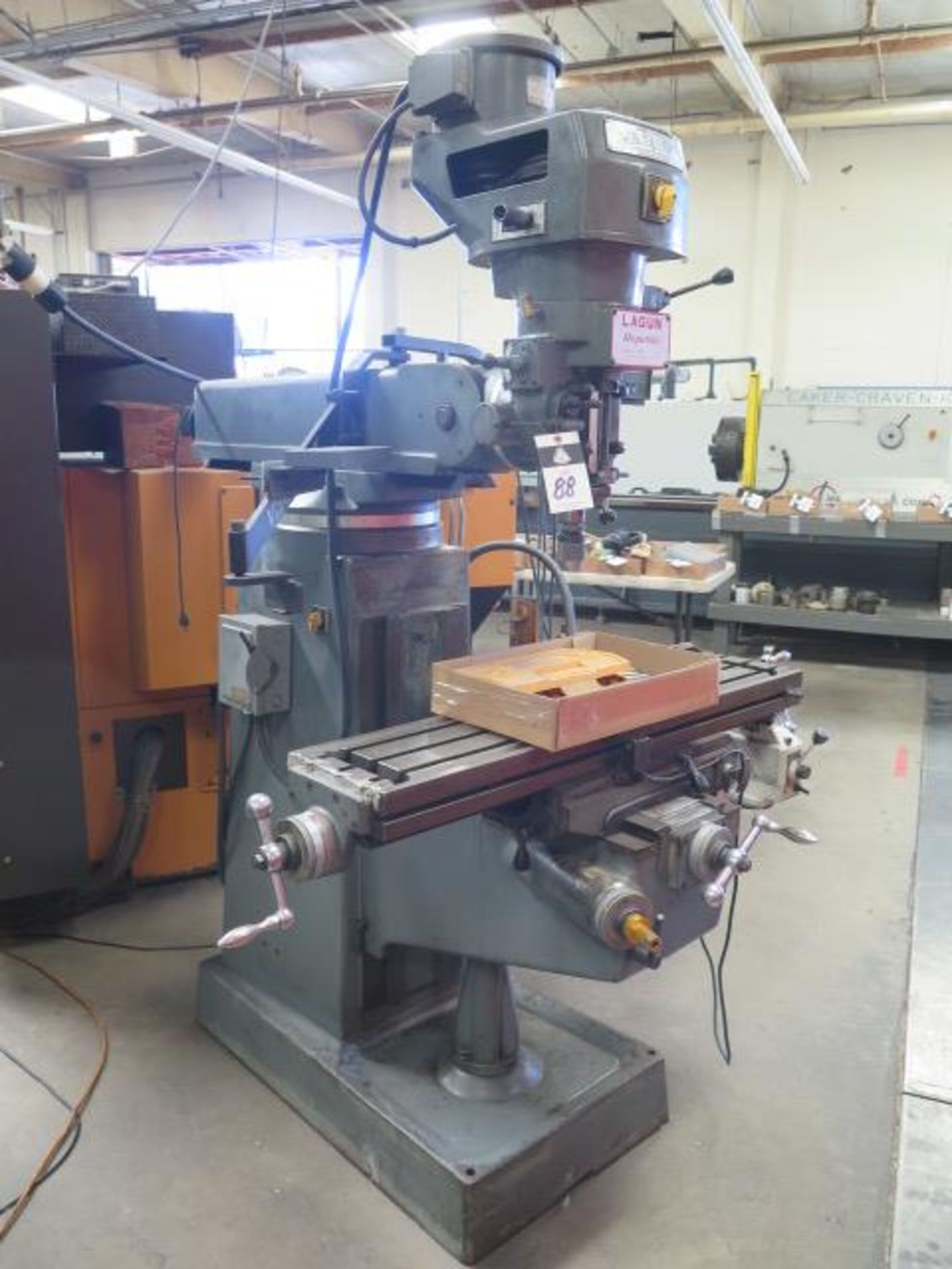 """Lagun FT-1 Vertical Mill w/ Mitutoyo DRO, 55-2940 RPM, 8-Speeds, Power Feed, 9"""" x 42"""" Table (SOLD - Image 2 of 14"""