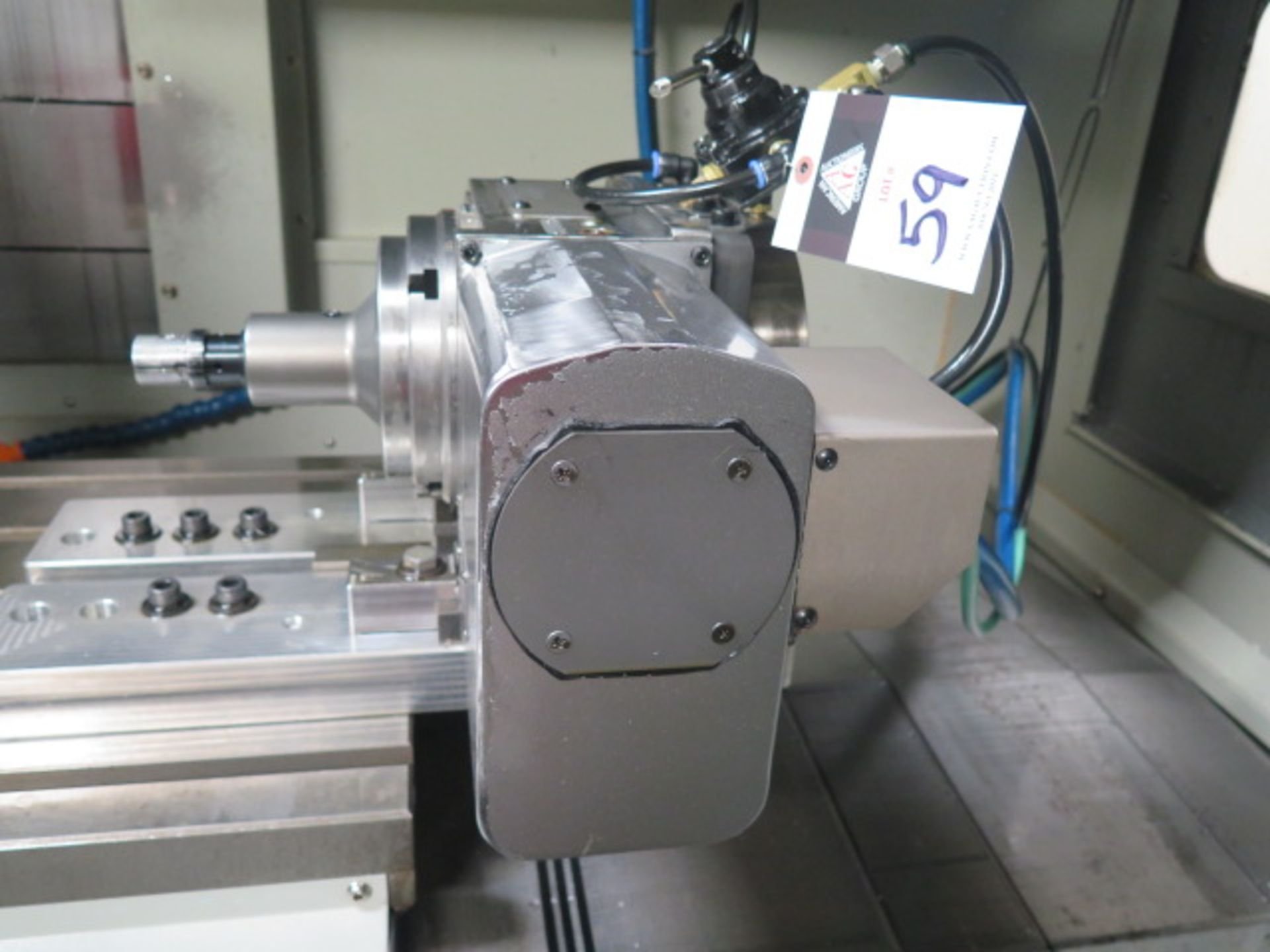 """Samchully 4th Axis 7"""" Rotary Head w/ 5C Pneumatic Collet Closer (SOLD AS-IS - NO WARRANTY) - Image 3 of 8"""