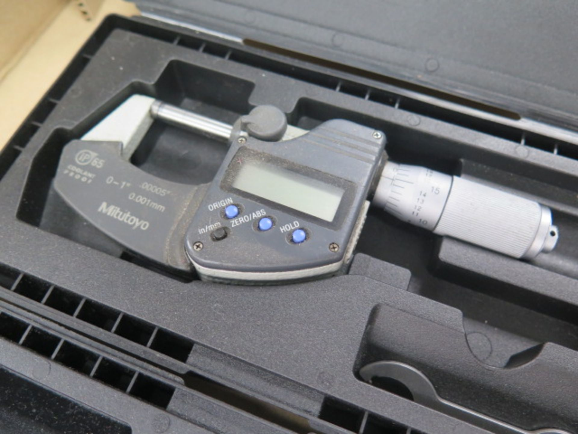 """Mitutoyo 0-1"""" Digital OD Mics (2) (SOLD AS-IS - NO WARRANTY) - Image 4 of 4"""
