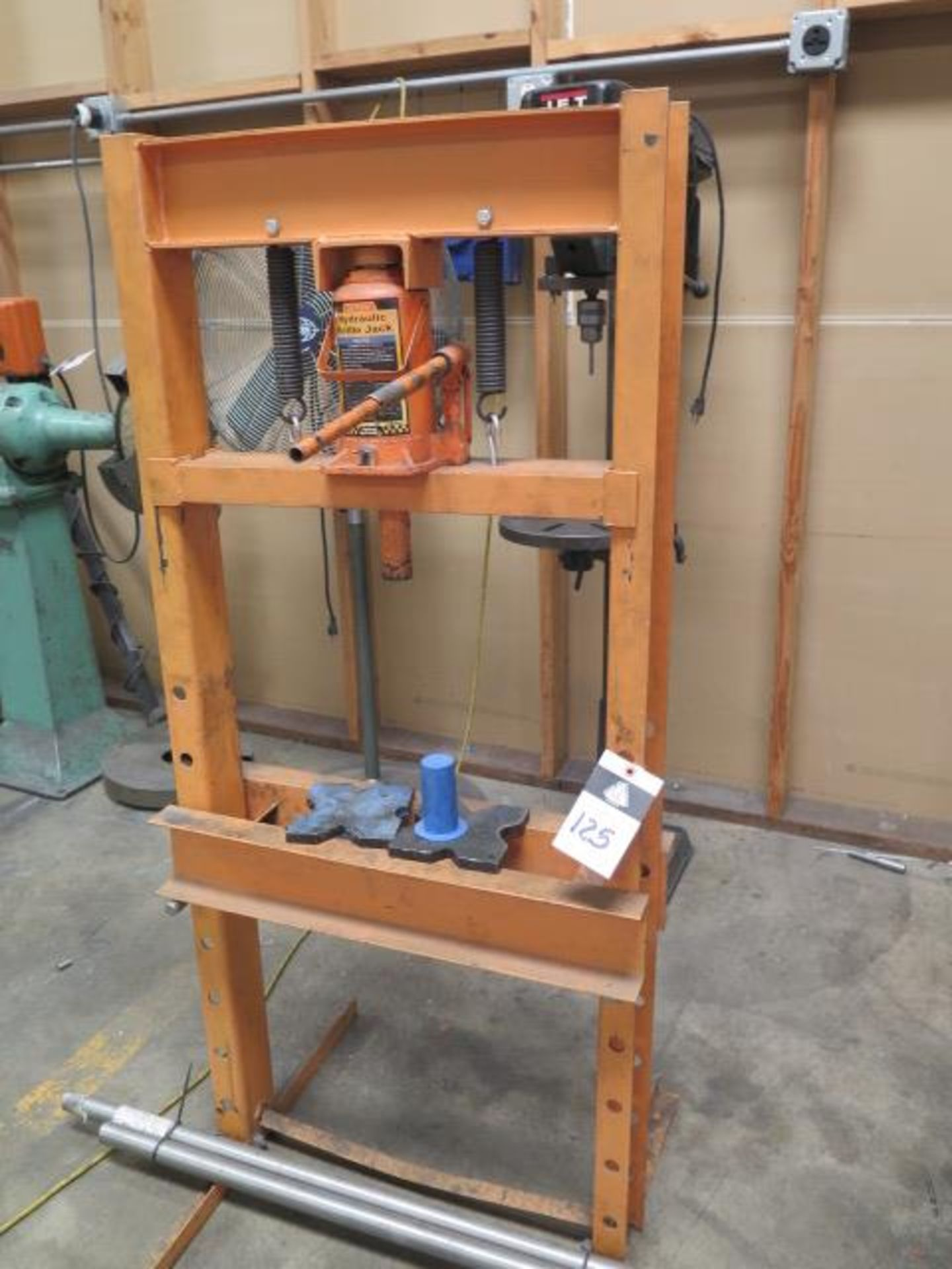 Central Hydraulics 20 Ton Hydraulic H-Frame Press (SOLD AS-IS - NO WARRANTY)