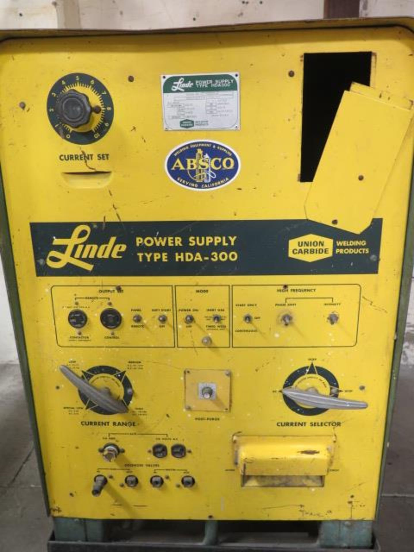 Linde HAD-300 AC/DC Arc Welding Power Source s/n C-3660800 (SOLD AS-IS - NO WARRANTY) - Image 3 of 5