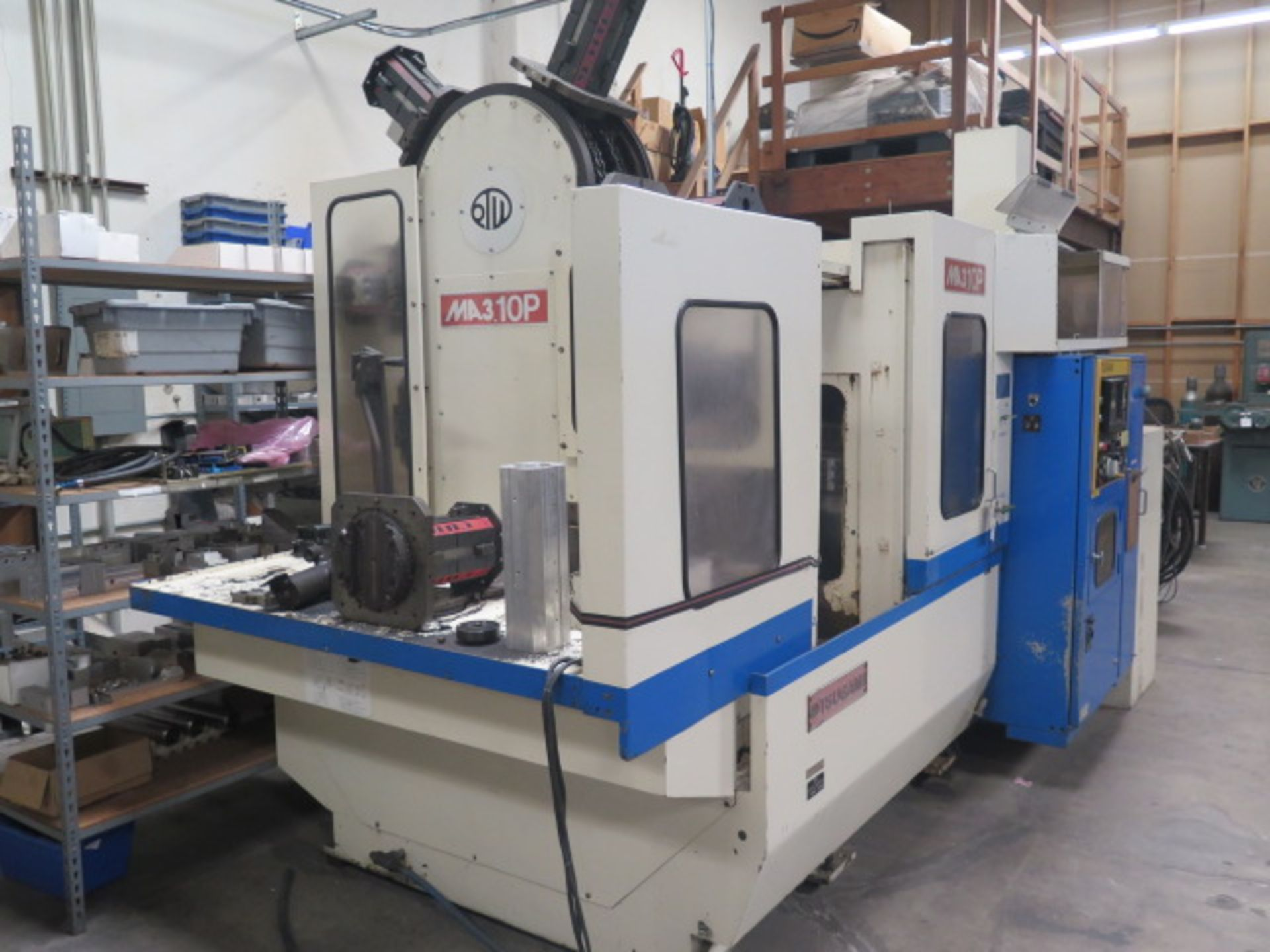 Tsugami MS3.10P Type MA3H 4-Axis 10-Pallet CNC HMC (HAS X-AXIS PROBLEM), SOLD AS IS - Image 2 of 20