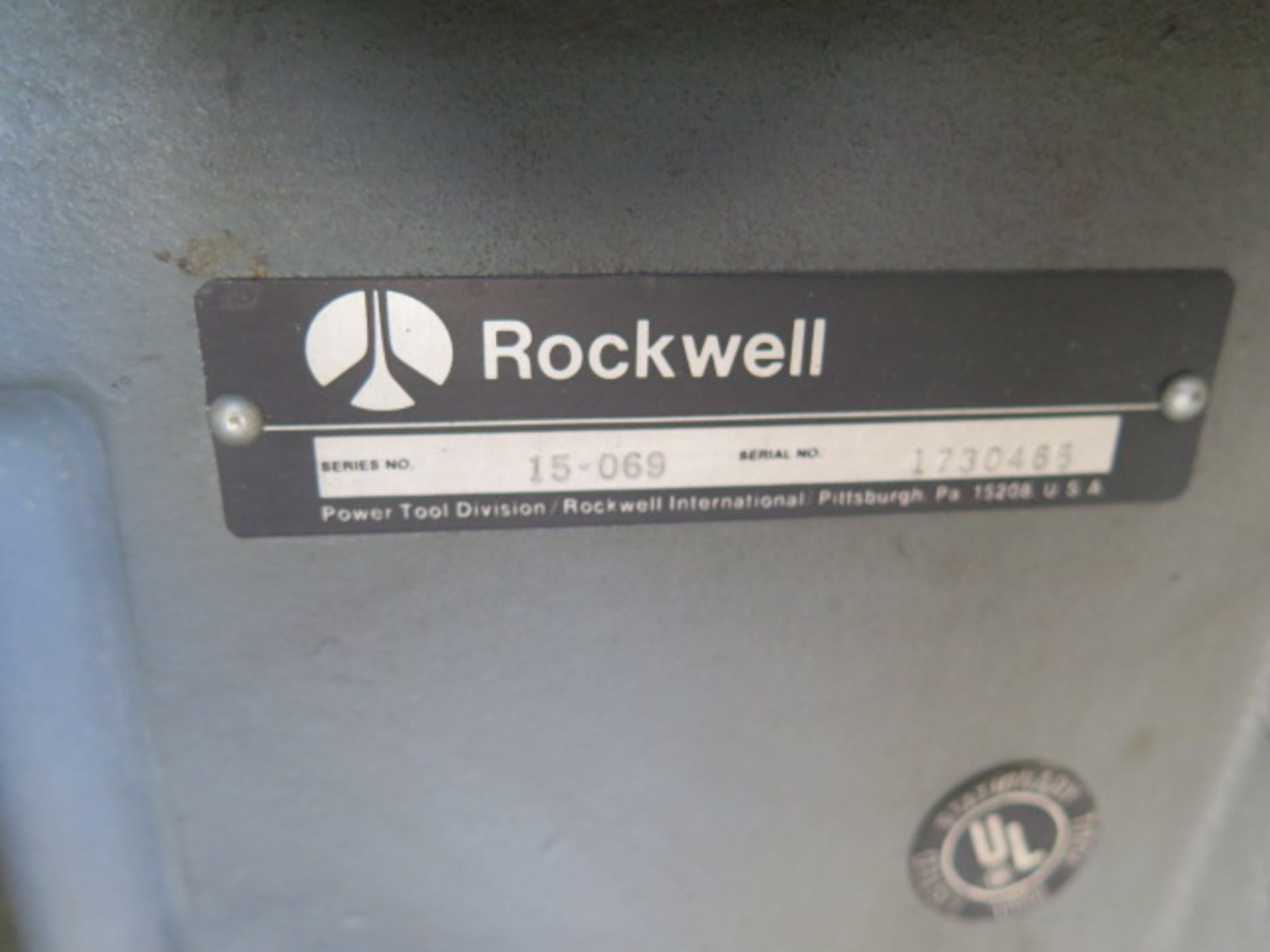 Rockwell Pedestal Drill Press (SOLD AS-IS - NO WARRANTY) - Image 6 of 6