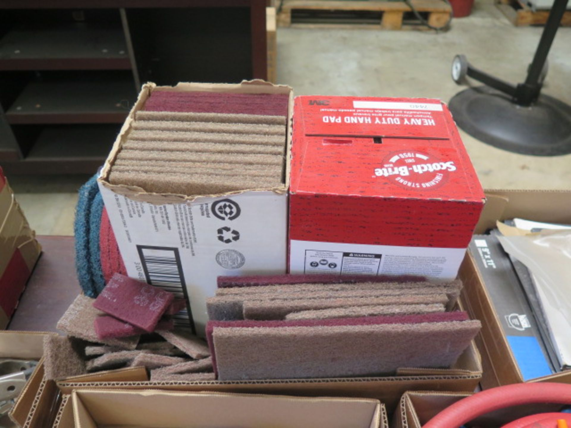 ScotchBrite Pads and Sand Paper (SOLD AS-IS - NO WARRANTY)
