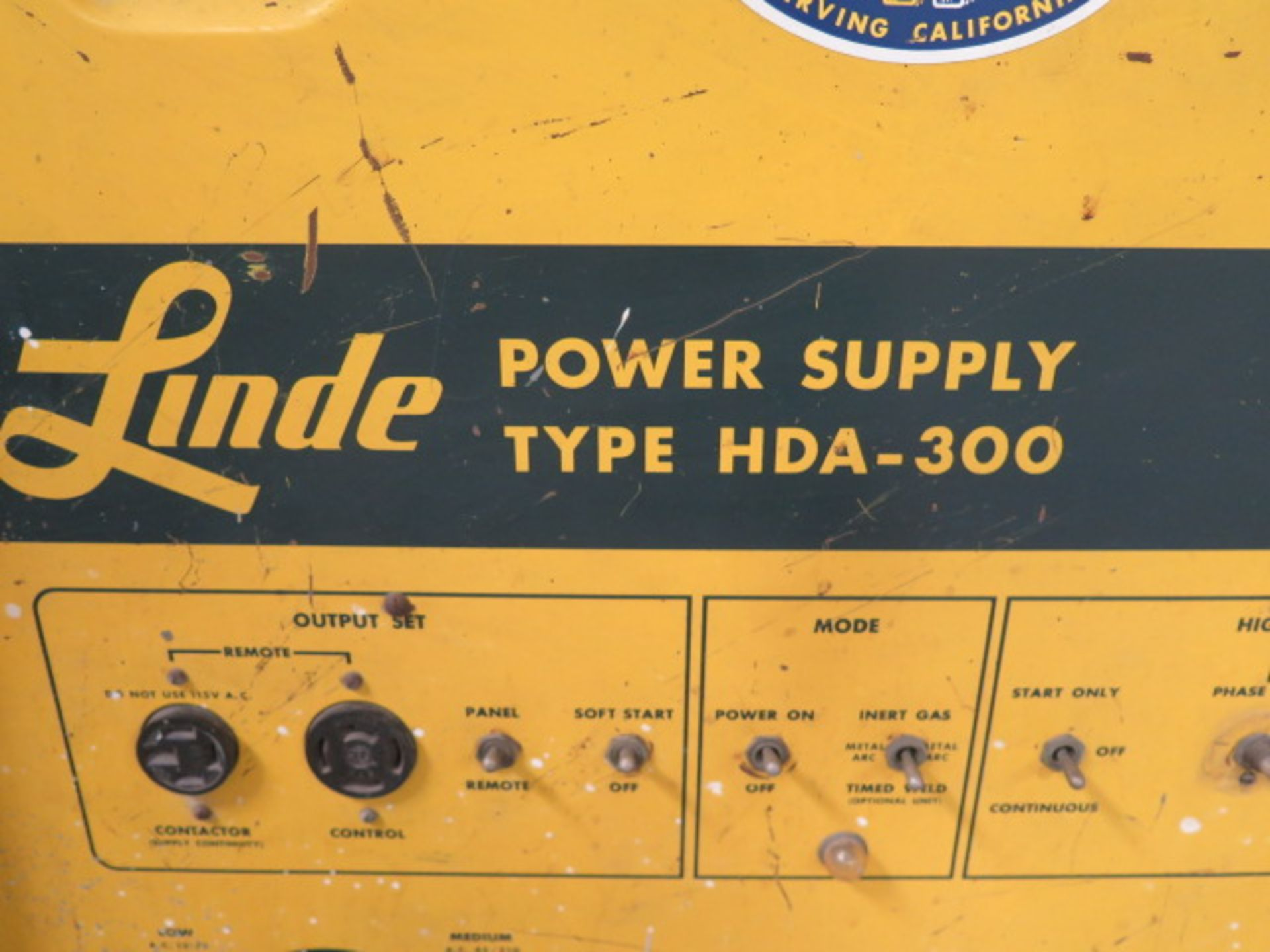 Linde HAD-300 AC/DC Arc Welding Power Source s/n C-3660800 (SOLD AS-IS - NO WARRANTY) - Image 4 of 5