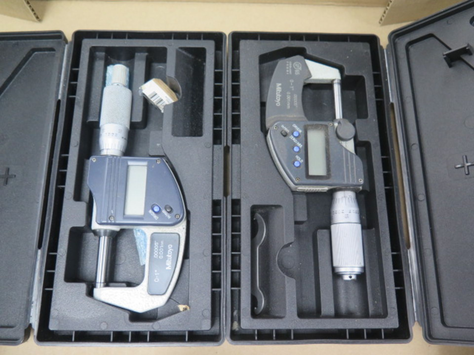 """Mitutoyo 0-1"""" Digital OD Mics (2) (SOLD AS-IS - NO WARRANTY) - Image 2 of 4"""