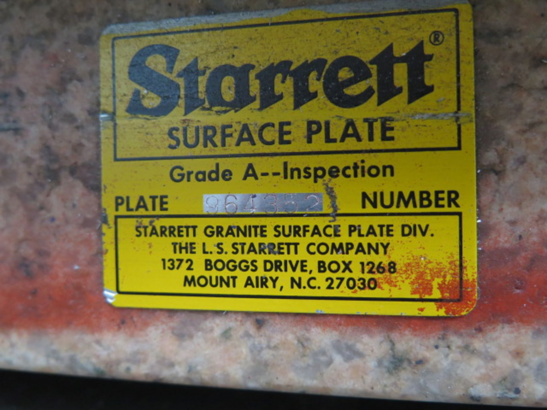 "Starrett Crystal Pink 24"" x 24"" x 6"" 4-Ledge Granite Surface Plate w/ Roll Stand (SOLD AS-IS - NO - Image 5 of 5"