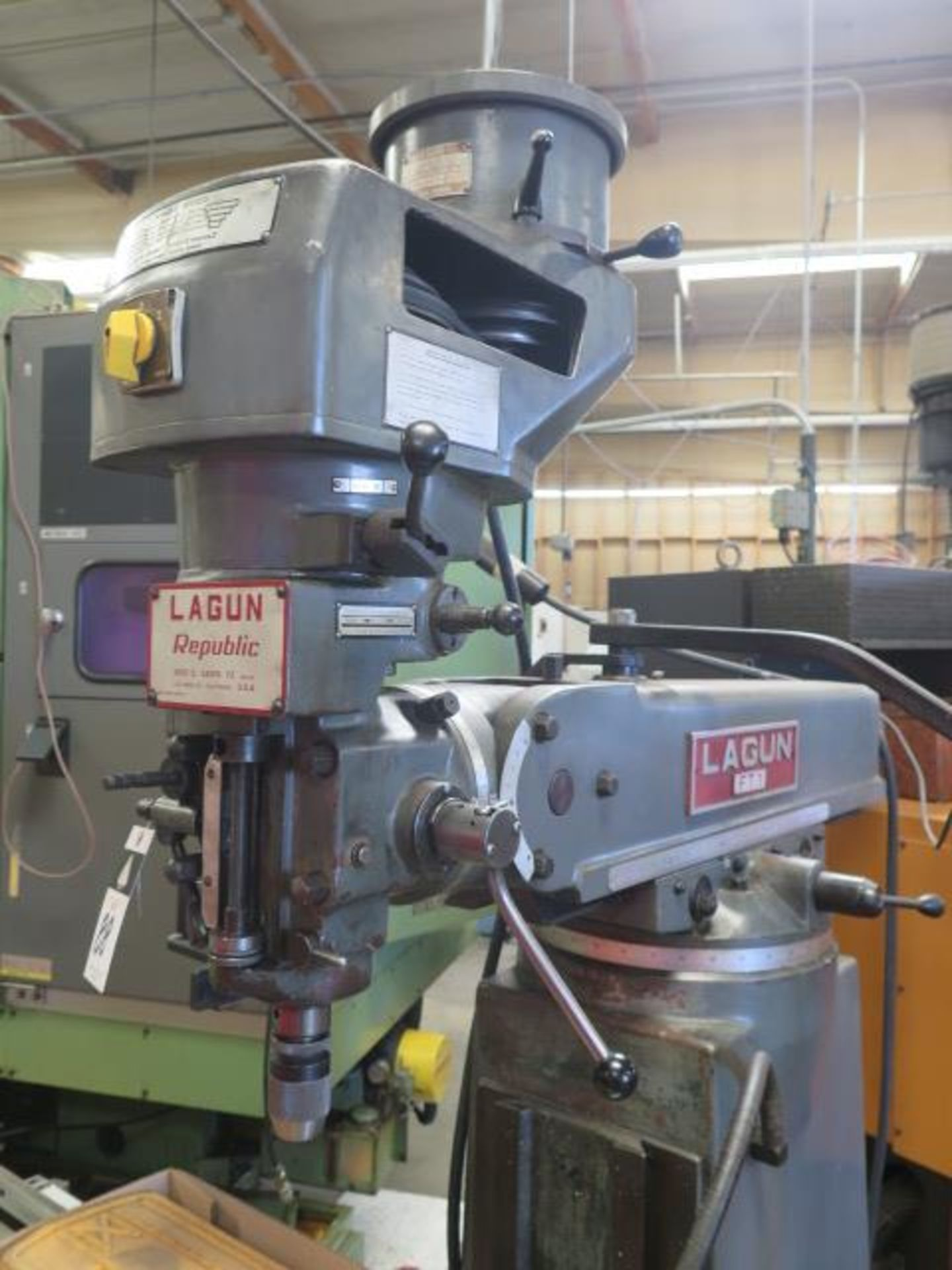 """Lagun FT-1 Vertical Mill w/ Mitutoyo DRO, 55-2940 RPM, 8-Speeds, Power Feed, 9"""" x 42"""" Table (SOLD - Image 5 of 14"""