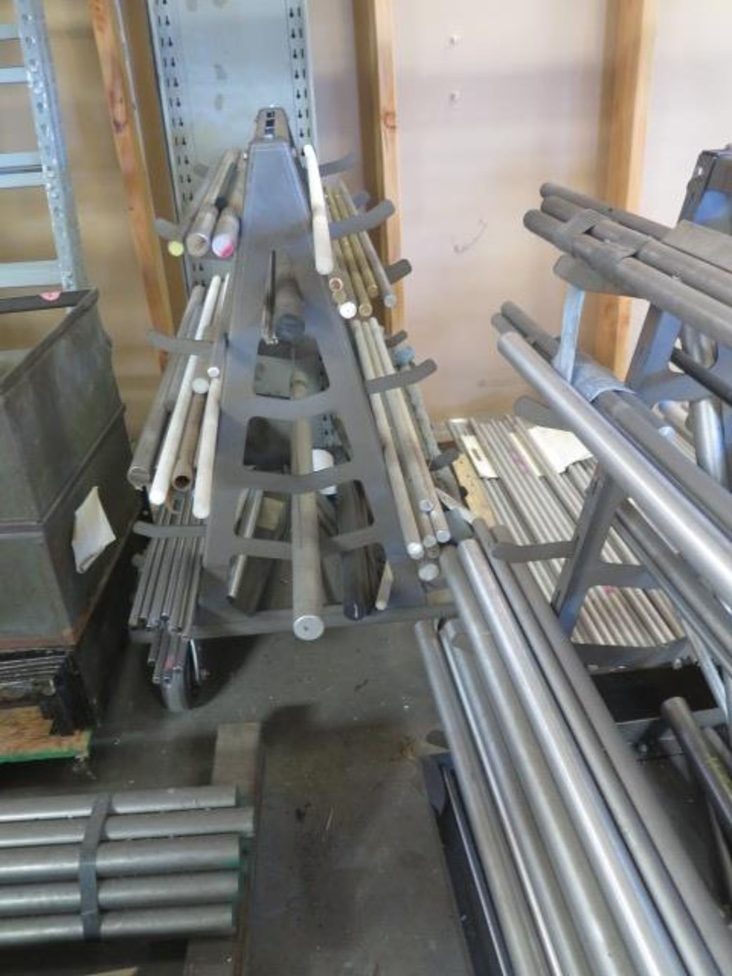 Misc Raw Materials w/ Rolling A-Frame Racks (SOLD AS-IS - NO WARRANTY) - Image 4 of 4
