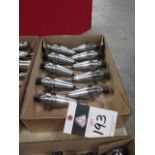 CAT-40 Taper 25,000 RPM Balanced ER16 Collet Chucks (10) (SOLD AS-IS - NO WARRANTY)