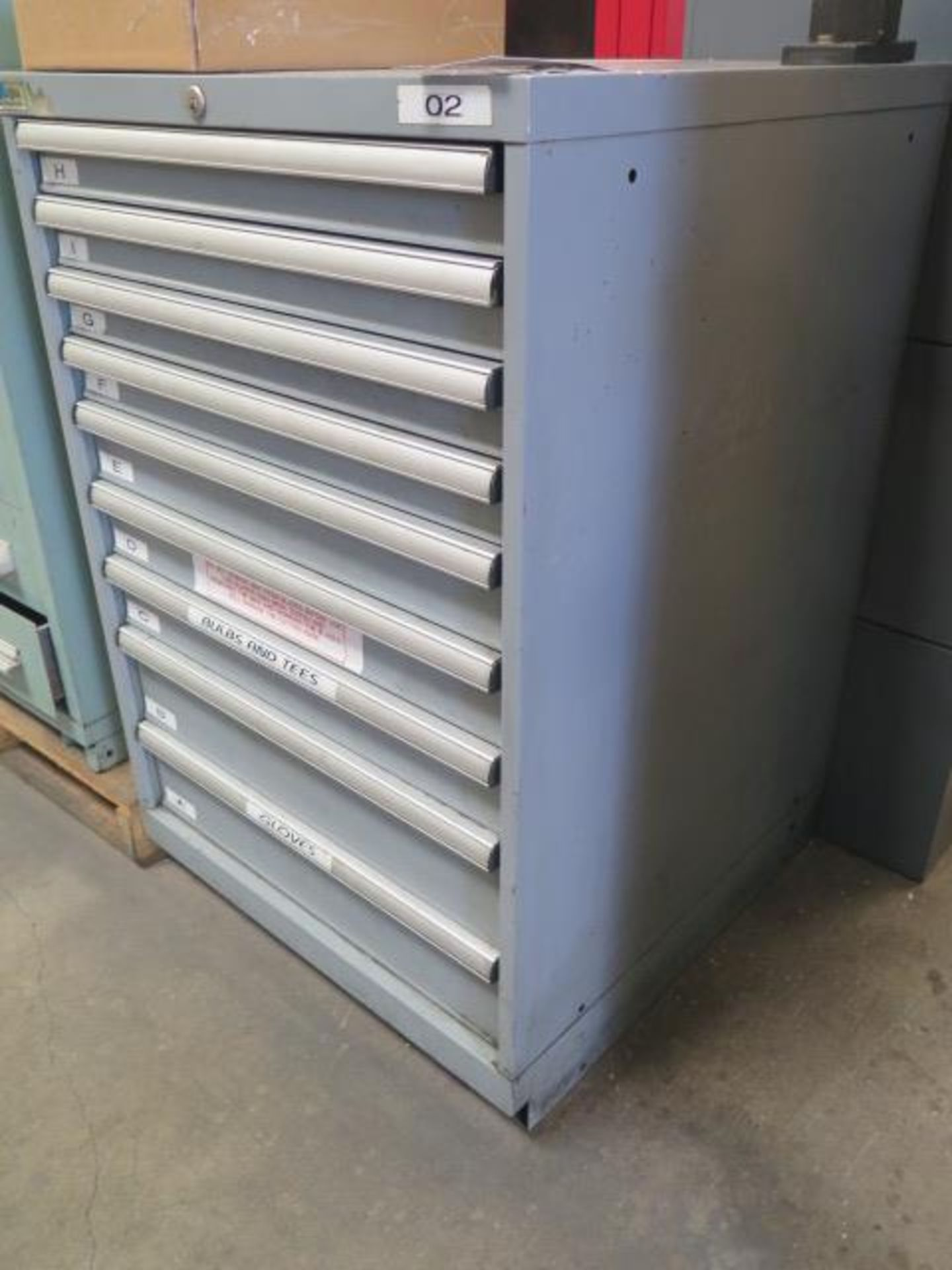 Lista 9-Drawer Tooling Cabinet w/ Mill Clamps (SOLD AS-IS - NO WARRANTY) - Image 2 of 11