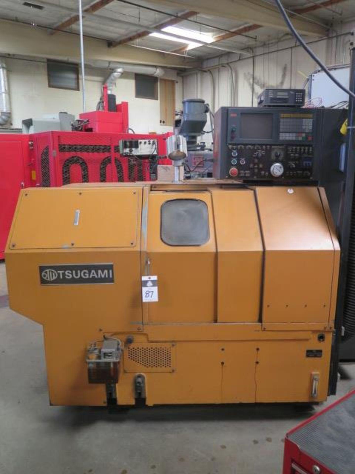 Tsugami NM3 CNC Turning Center s/n 6029 w/ Mitsubishi Meldas Controls, 8-Station Turret, SOLD AS IS