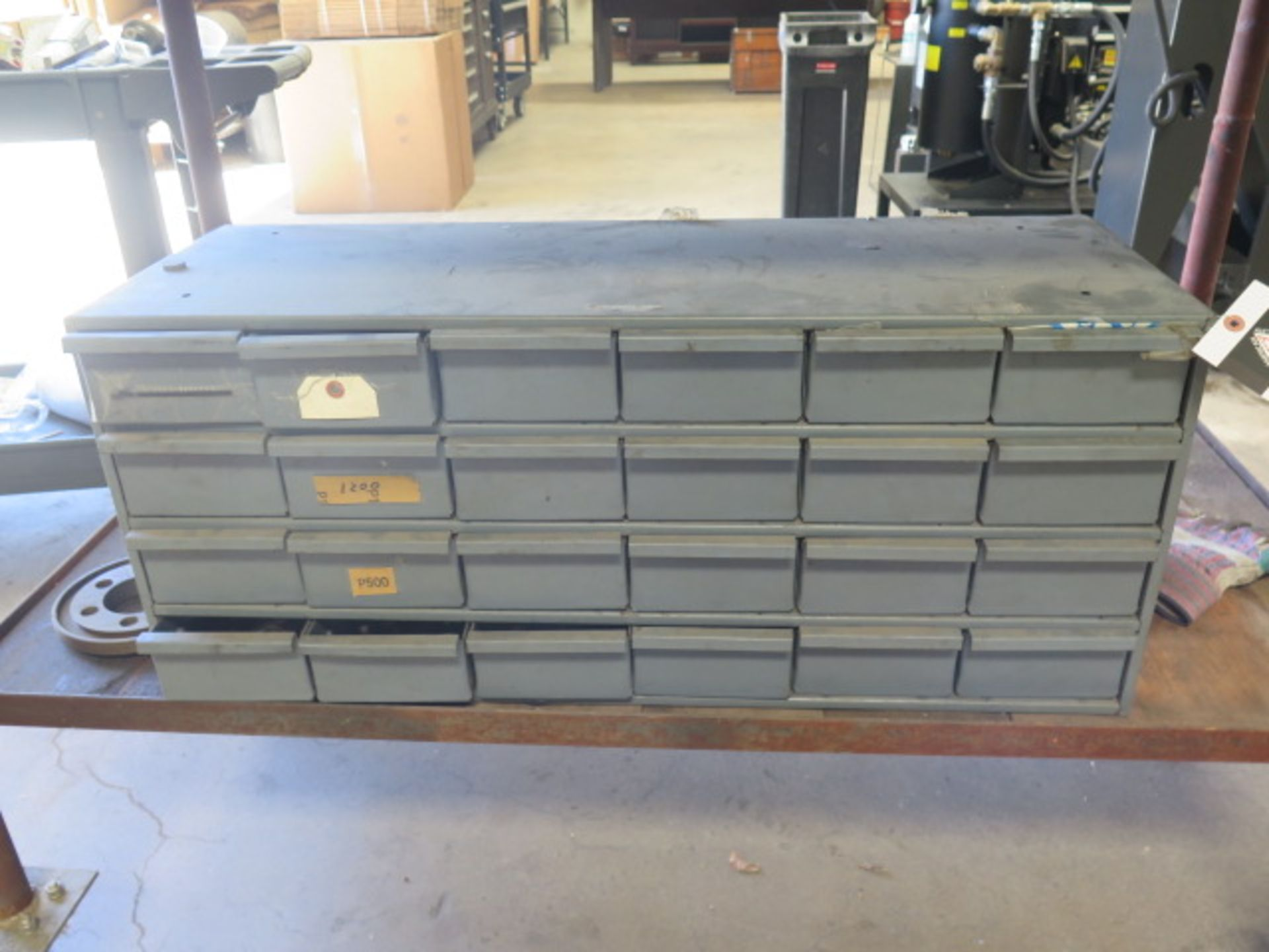 24-Drawer Parts Cabinet w/ Misc (SOLD AS-IS - NO WARRANTY)