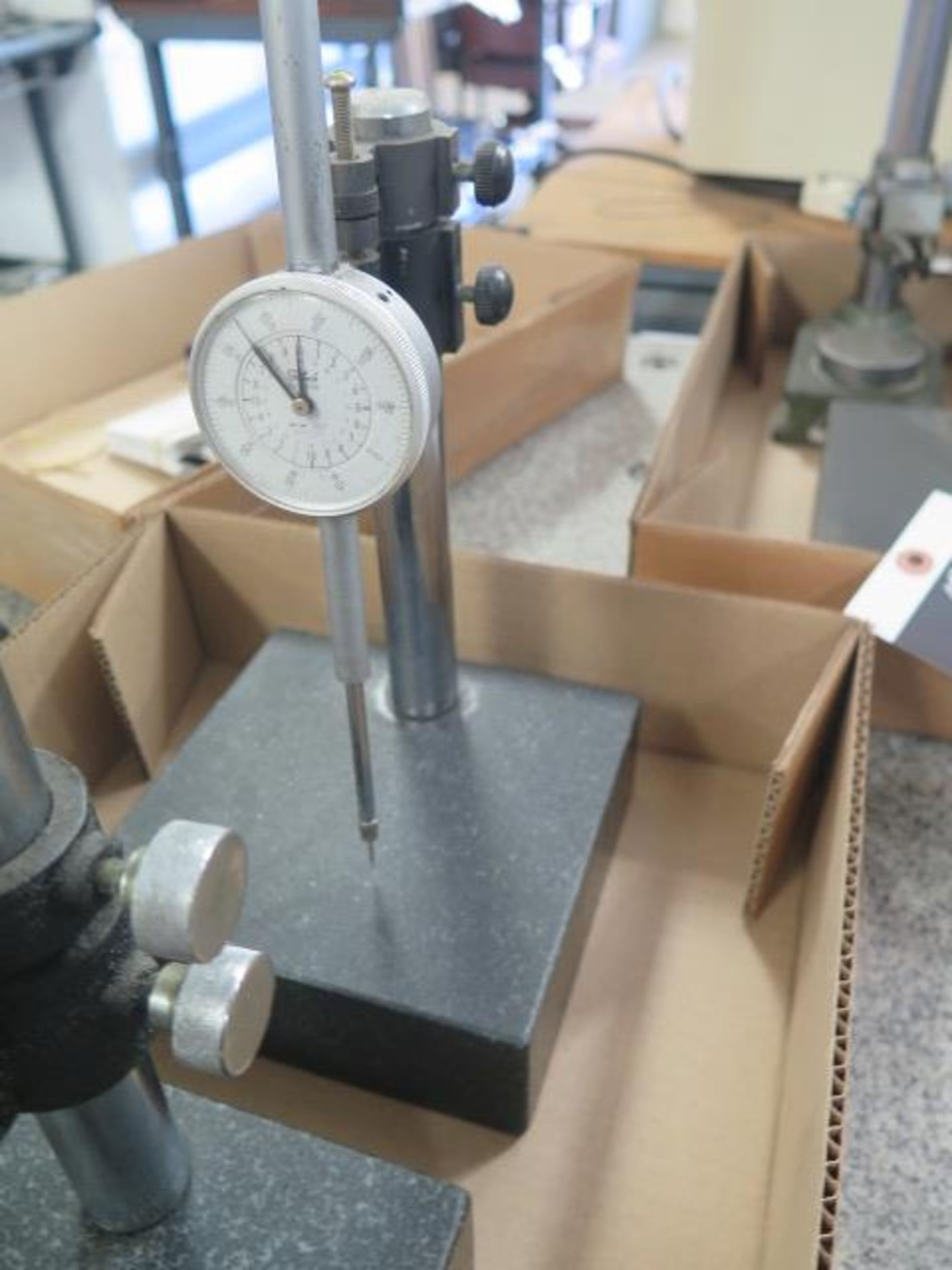 """6"""" x 6"""" Granite Indicator Stands (2) w/ Dial Indicators (SOLD AS-IS - NO WARRANTY) - Image 4 of 4"""