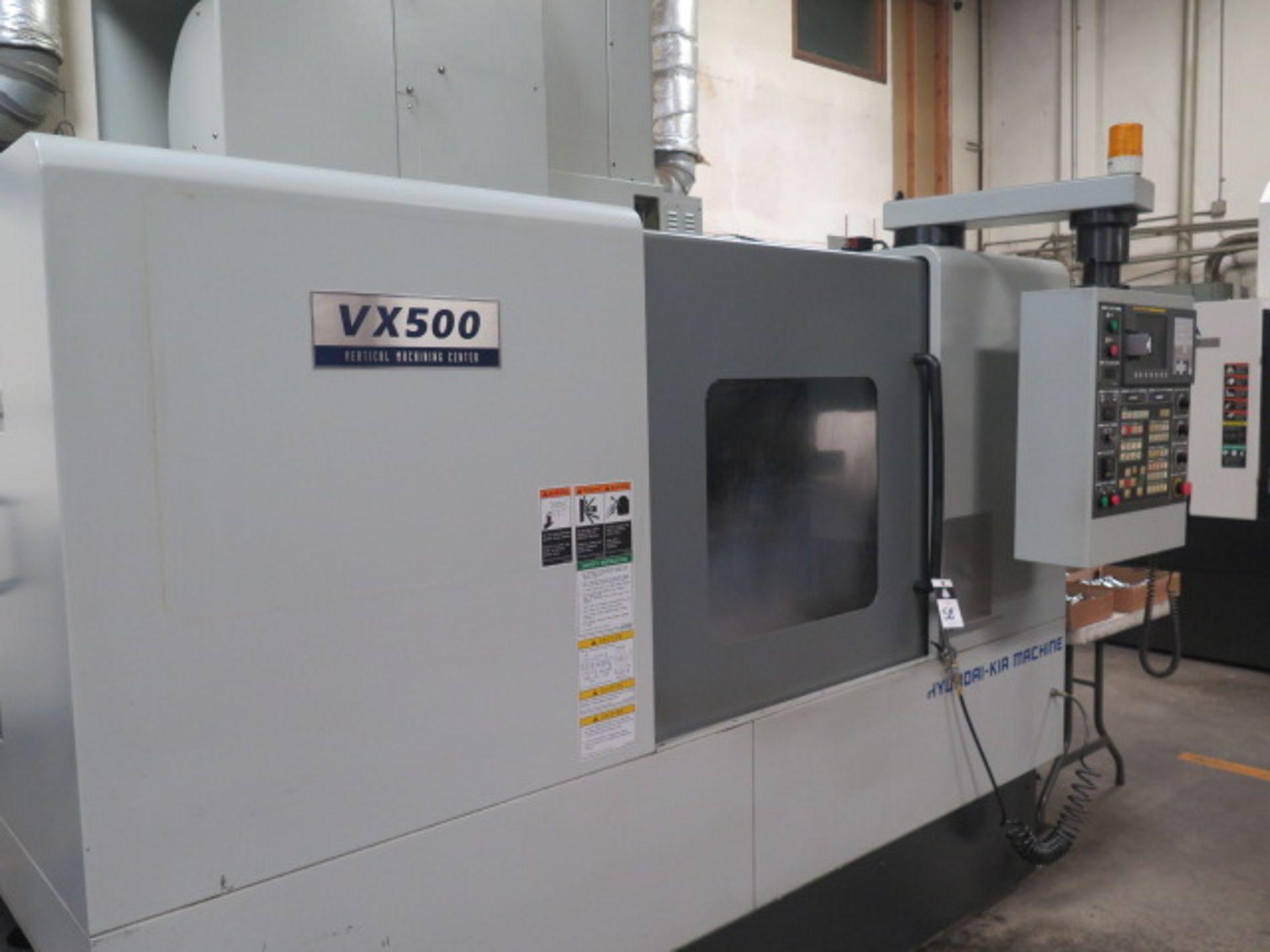 2004 Hyundai WIA VX500 4-Axis CNC VMC s/n VX5000882 w/ Hyundai WIA Fanuc i- Series, SOLD AS IS - Image 3 of 23