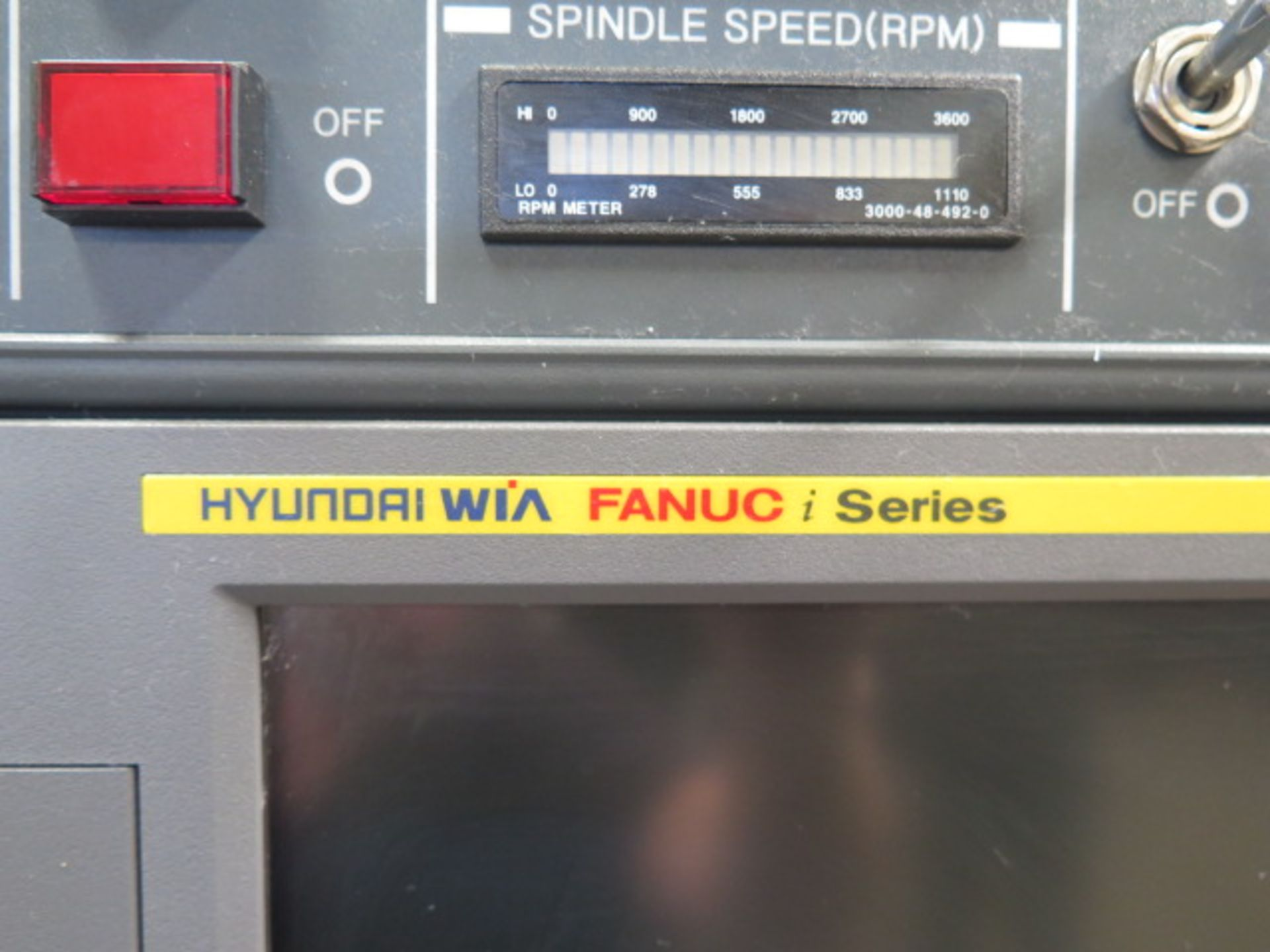 2016 Hyundai WIA L300LA CNC Turning Center s/n G3726-0083 w/ Fanuc i-Series Controls, SOLD AS IS - Image 6 of 20