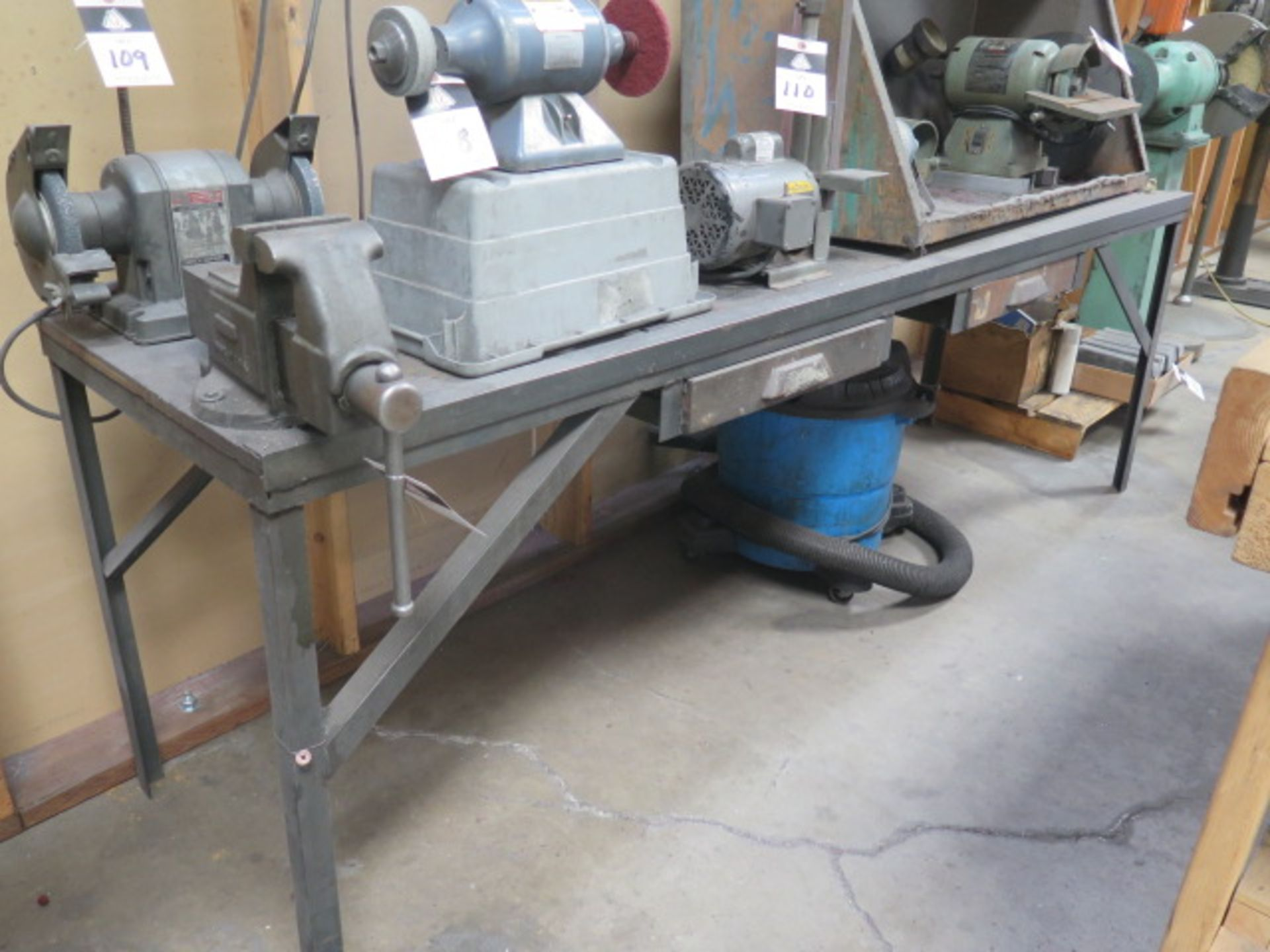 Columbian Bench Vise w/ Bench (SOLD AS-IS - NO WARRANTY)