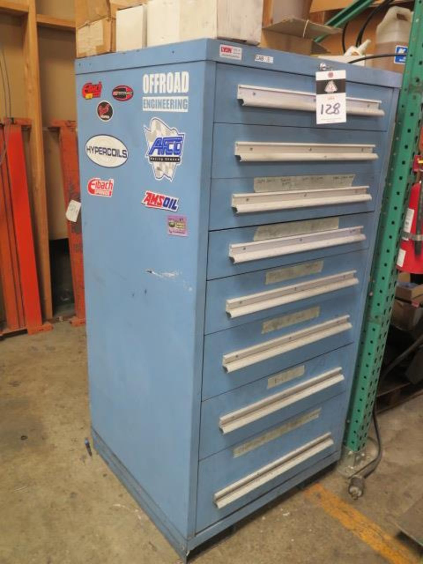 Lyon 8-Drawer Tooling Cabinet w/ Misc (SOLD AS-IS - NO WARRANTY) - Image 2 of 10