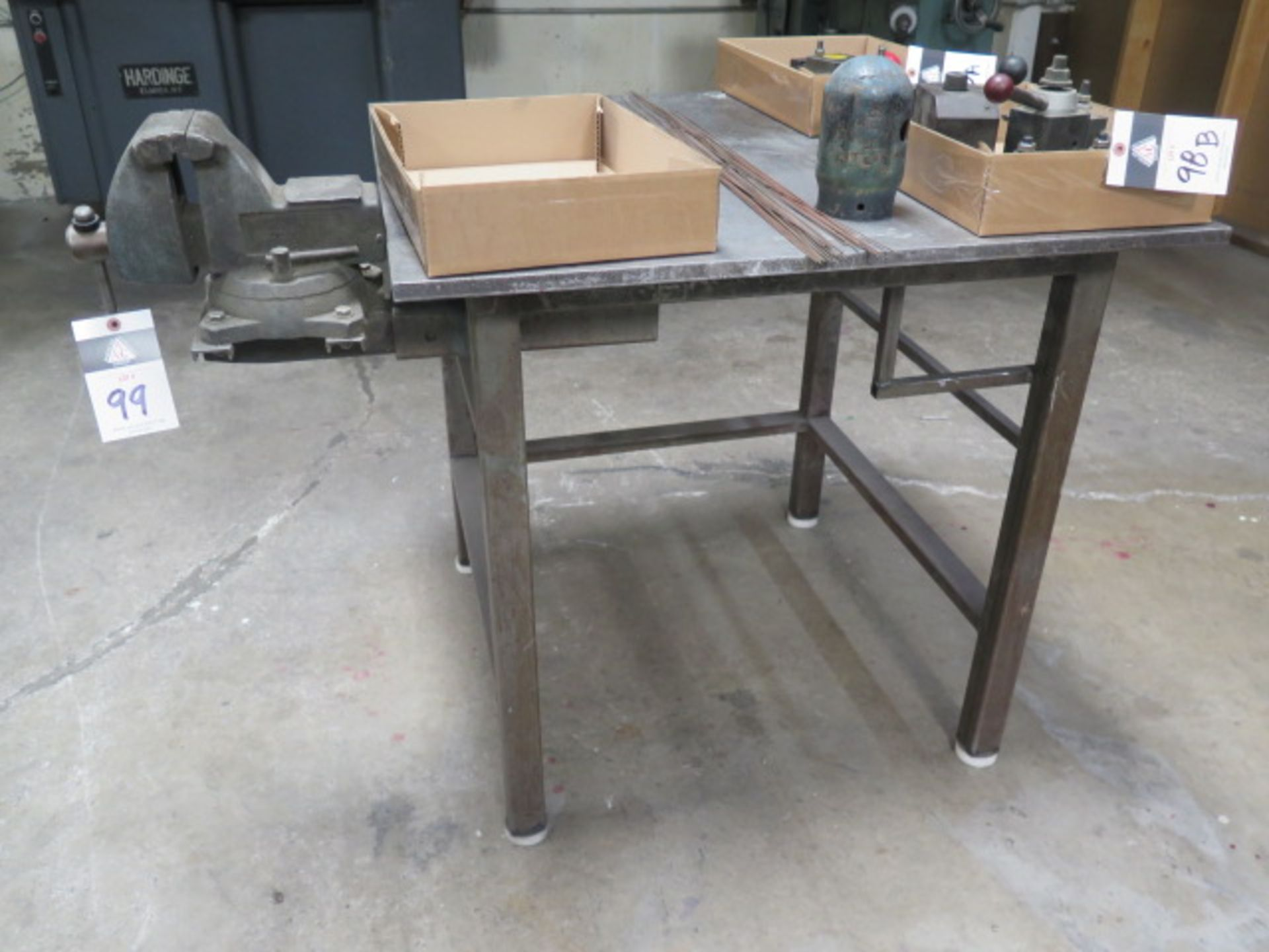 Welding Table w/ Bench Vise (SOLD AS-IS - NO WARRANTY)