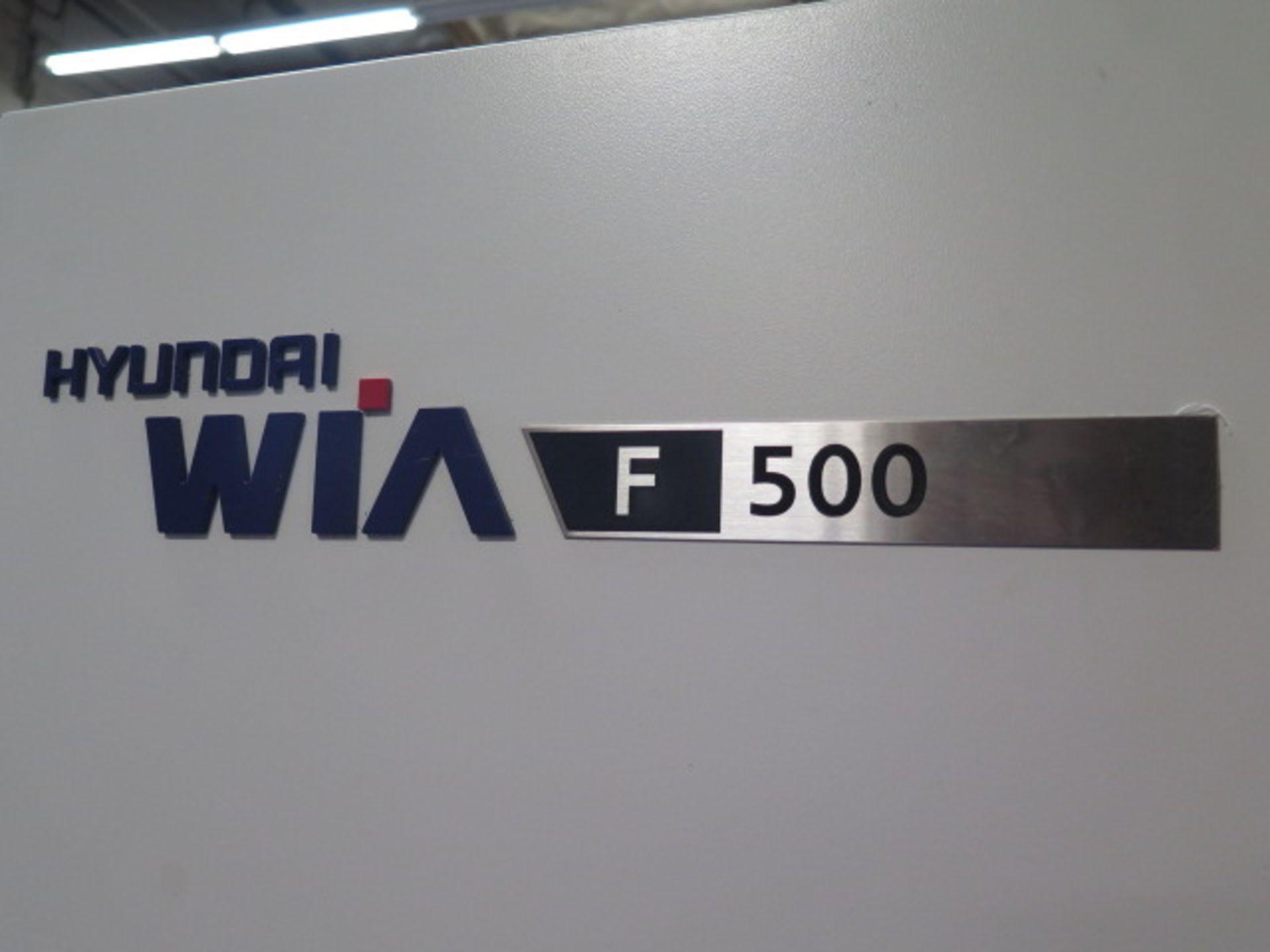 2016 Hyundai WIA F500 CNC VMC s/n G3684-3507 w/ Hyundai WIA Fanuc i-Series, SOLD AS IS NO WARRANTY - Image 4 of 22