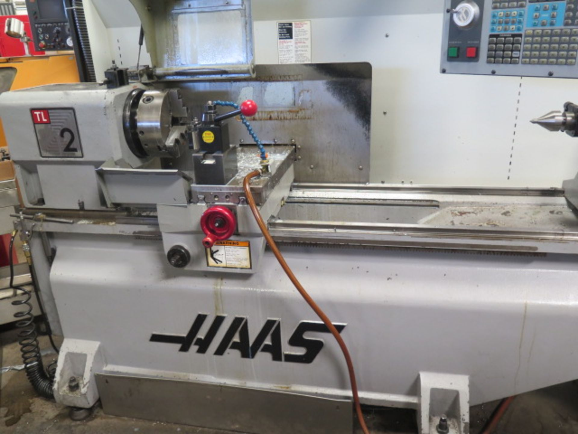 2004 Haas TL2 CNC Tool Room Lathe s/n 68351 w/ Haas Controls, Tailstock, Steady Rest, SOLD AS IS - Image 2 of 15