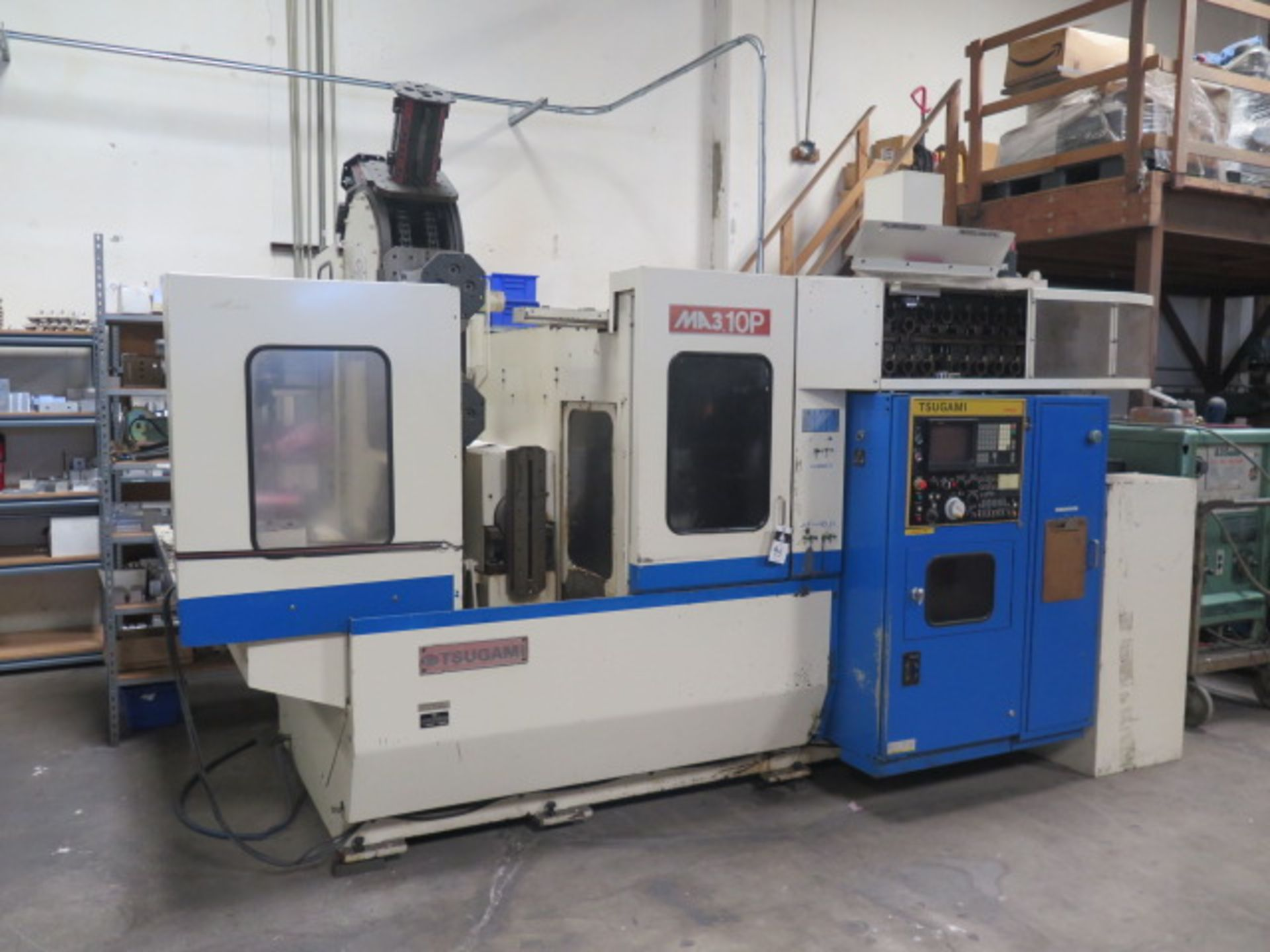 Tsugami MS3.10P Type MA3H 4-Axis 10-Pallet CNC HMC (HAS X-AXIS PROBLEM), SOLD AS IS