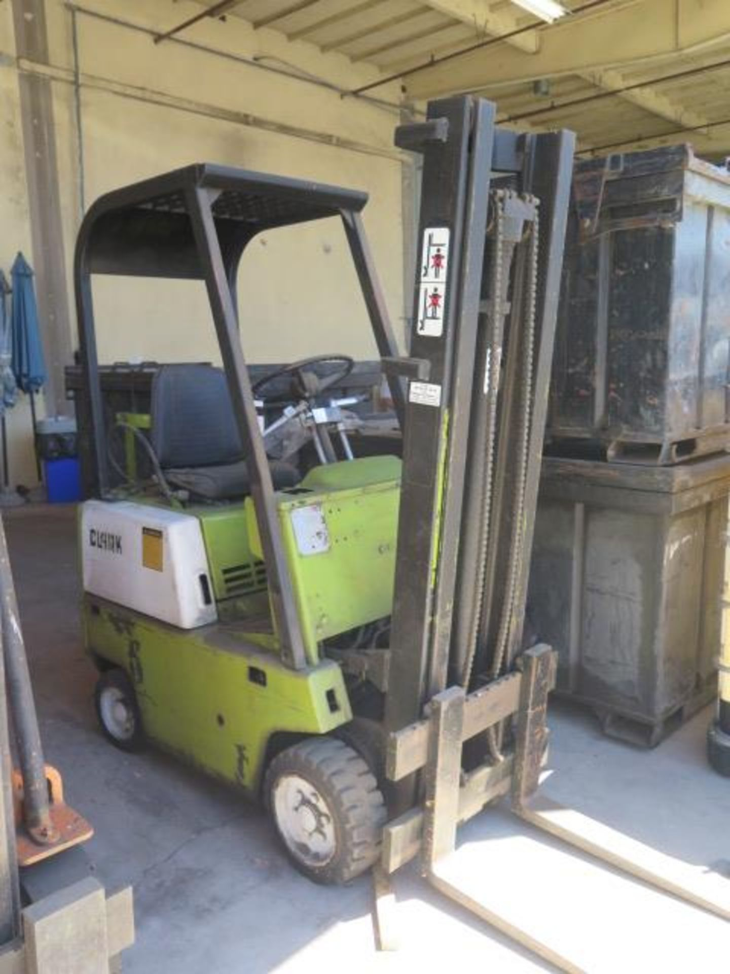 """Clark 2000 Lb Cap LPG Forklift w/ 2-Stage 130"""" Lift Height, (Condition Unknown), SOLD AS IS"""