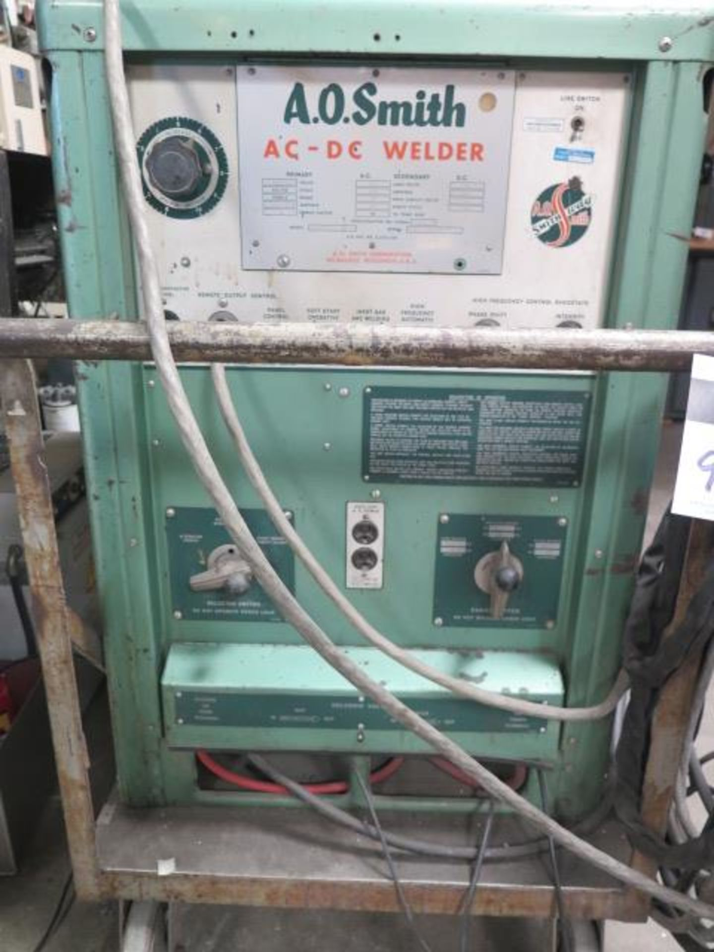 AO Smith A3000AD AFGW AC/DC Arc Welding Power Source s/n 1453-6043-8 (SOLD AS-IS - NO WARRANTY) - Image 3 of 8