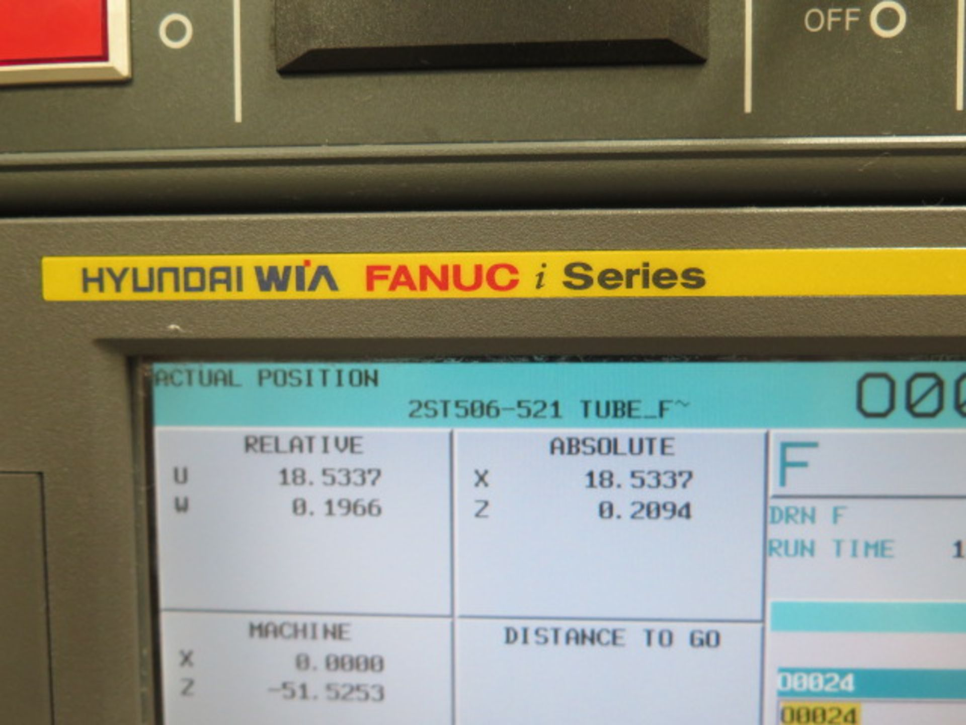 2017 Hyundai WIA L300LA CNC Turning Center s/n G3726-0108 w/ Fanuc i-Series Controls, SOLD AS IS - Image 5 of 18