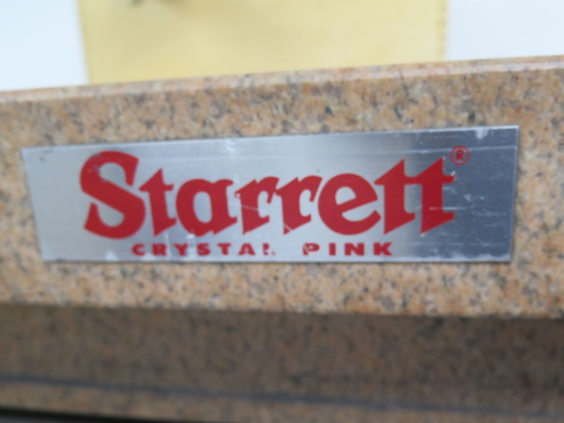 "Starrett Crystal Pink 24"" x 24"" x 6"" 4-Ledge Granite Surface Plate w/ Roll Stand (SOLD AS-IS - NO - Image 4 of 5"