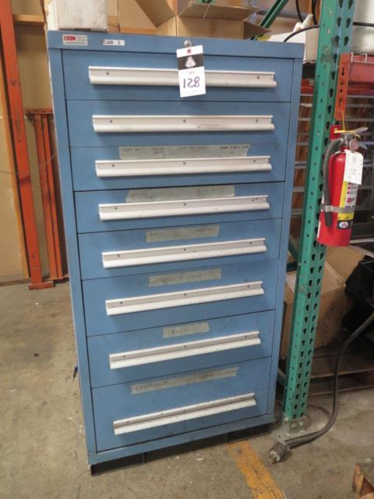 Lyon 8-Drawer Tooling Cabinet w/ Misc (SOLD AS-IS - NO WARRANTY)
