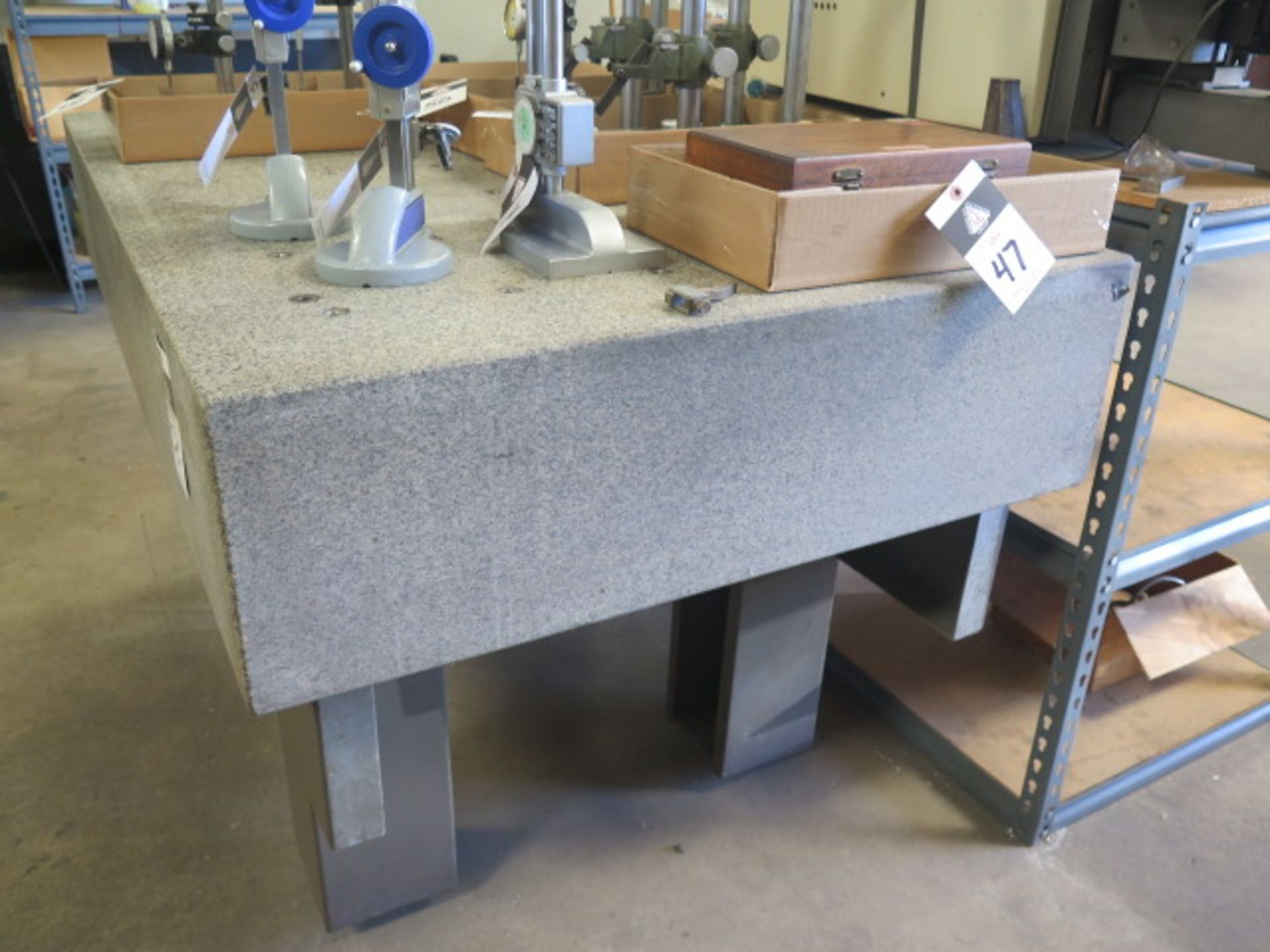 """36"""" x 60"""" x 10"""" Granite Surface Plate w/ Stand (SOLD AS-IS - NO WARRANTY) - Image 2 of 5"""