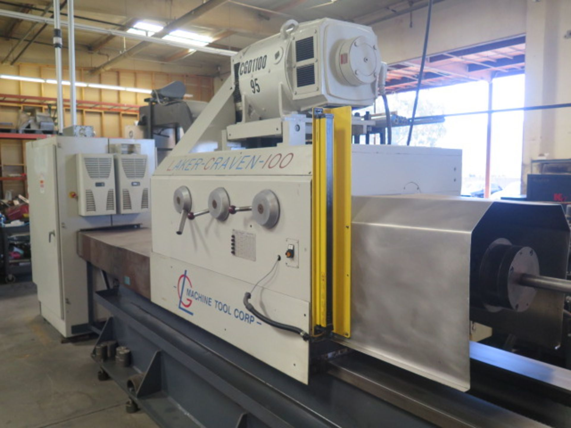 Laker-Craven-100 CNC Deep Hole Drilling Machine s/n 1241 w/ Fanuc Power MATE Controls, SOLD AS IS - Image 9 of 41