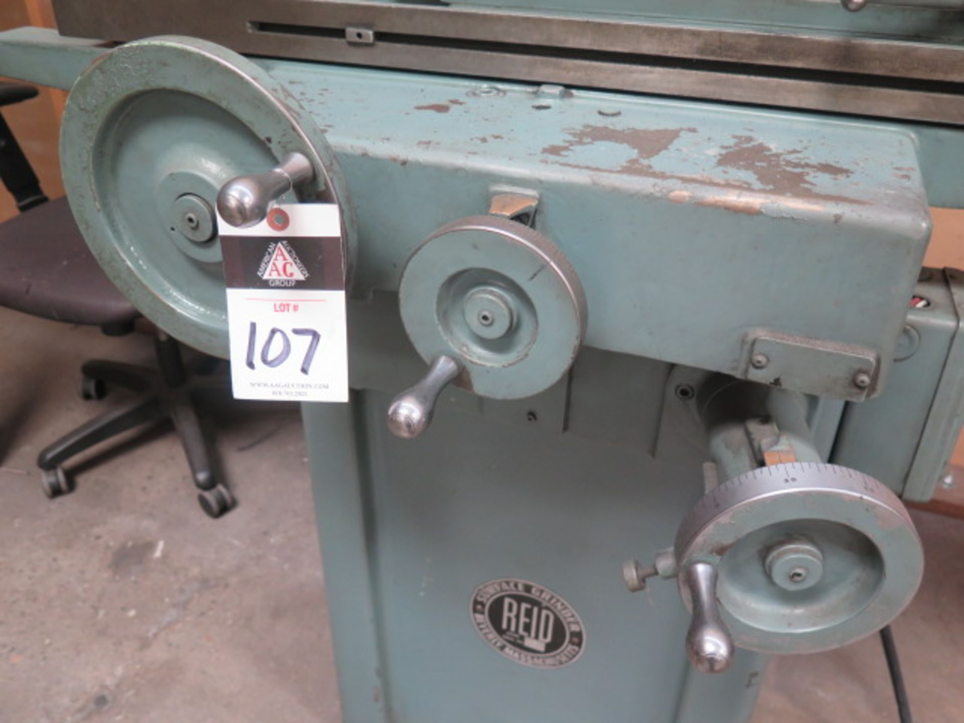 """Reid 618HA 6"""" x 18"""" Surface Grinder s/n 14554 w/ Magnetic Chuck (SOLD AS-IS - NO WARRANTY) - Image 5 of 9"""