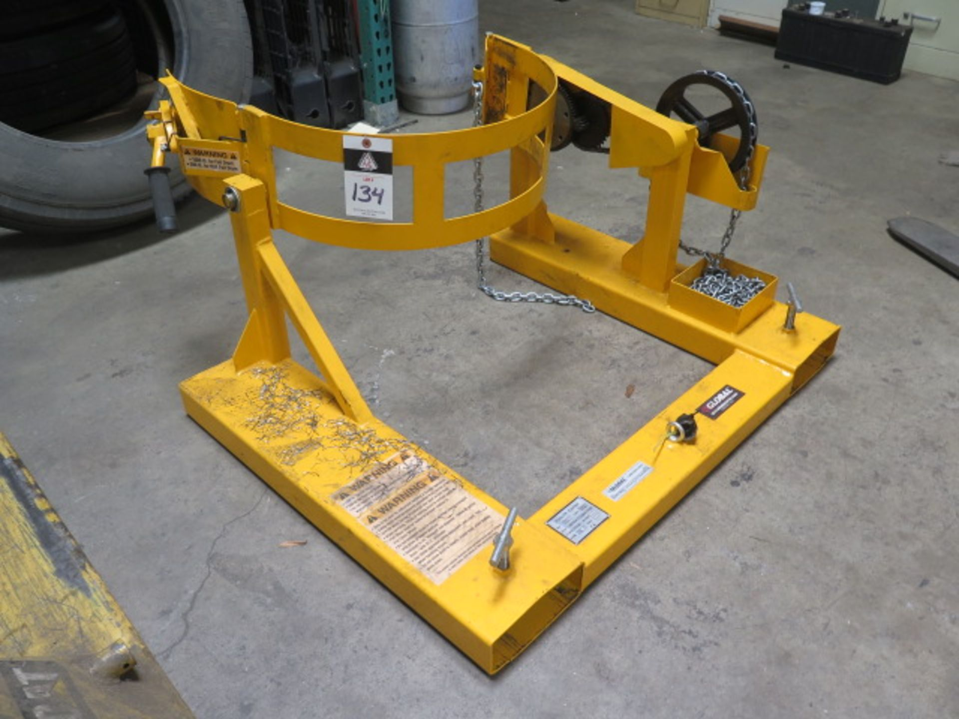Global Barrel Turner Forklift Attachment (SOLD AS-IS - NO WARRANTY)