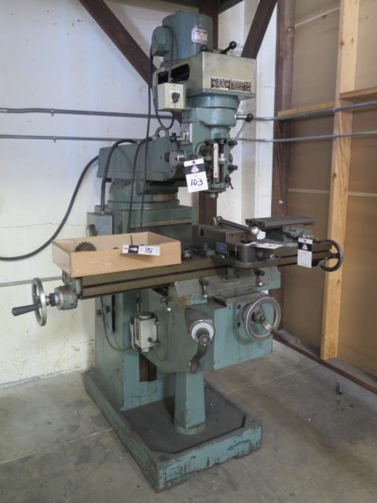 """Import Vertical Mill w/ 3Hp Motor, 80-2720 RPM, 8-Speeds, R8 Spindle, 10"""" x 48"""" Table (SOLD AS-"""