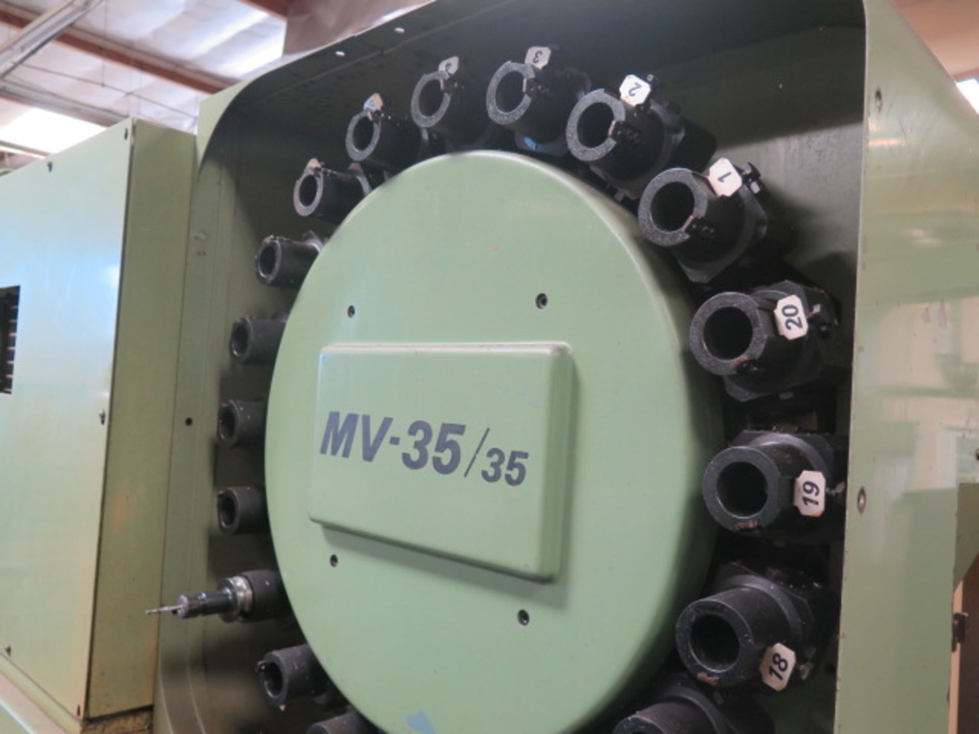 Mori Seiki MV-35/35 CNC VMC s/n 148 w/ Fanuc Controls, 20-Station ATC, BT-35, SOLD AS IS - Image 7 of 14