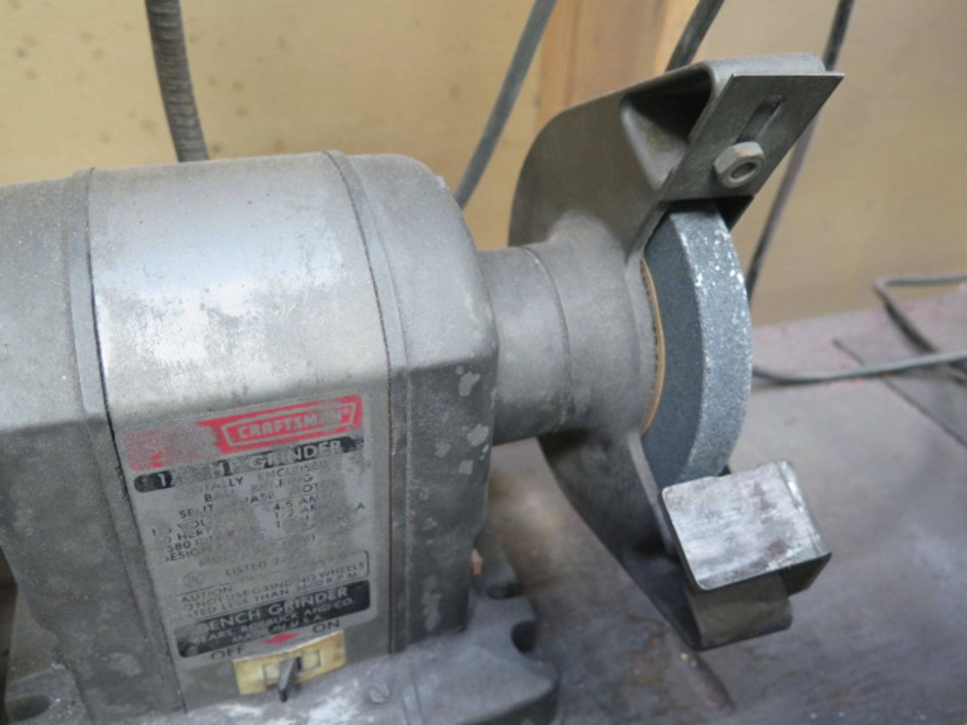 Craftsman Bench Grinder (SOLD AS-IS - NO WARRANTY) - Image 4 of 4
