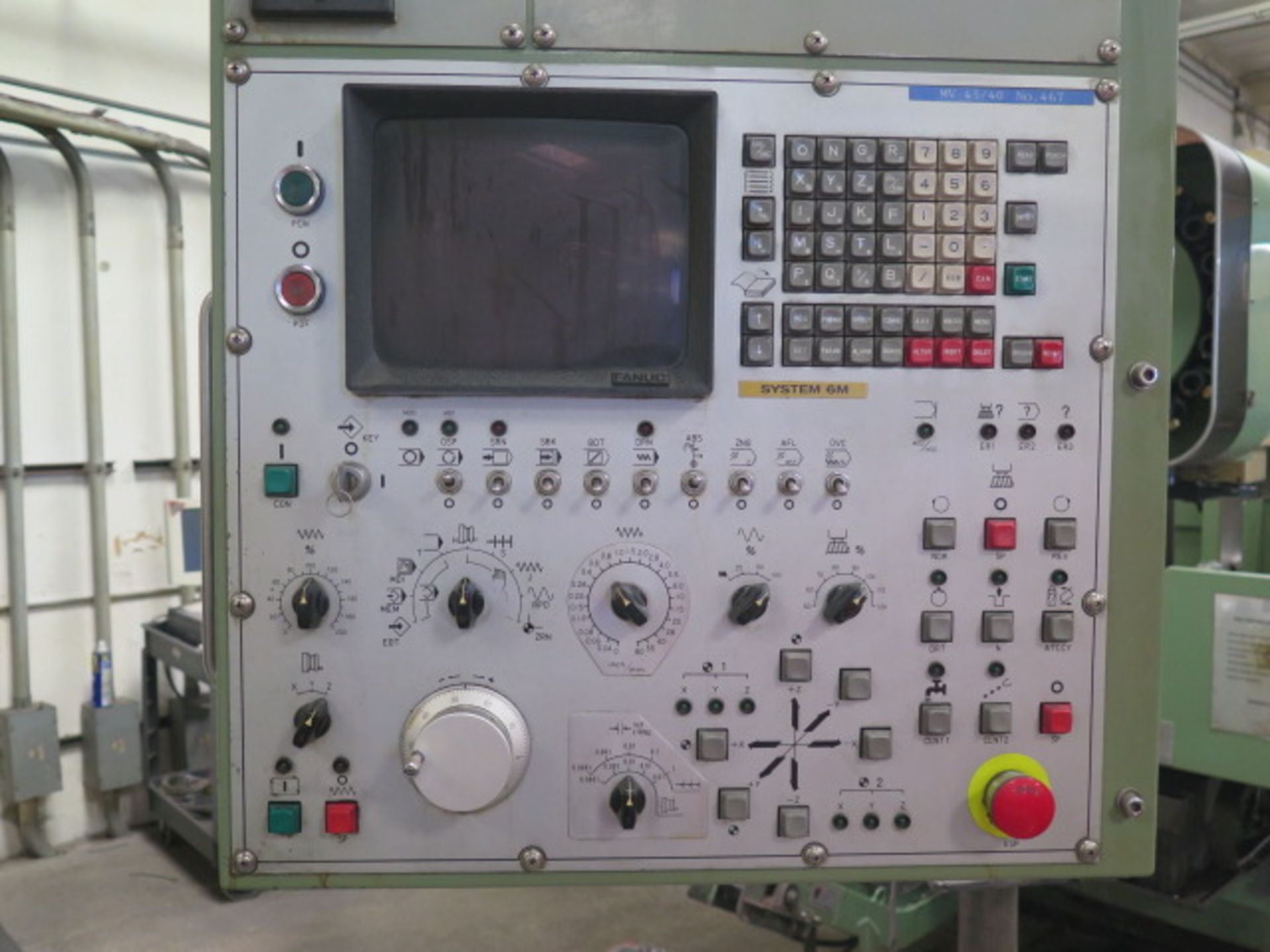 Mori Seiki MV-45/40 CNC VMC s/n 467 w/ Fanuc System 6M Controls, 20 ATC, SOLD AS IS - Image 5 of 14